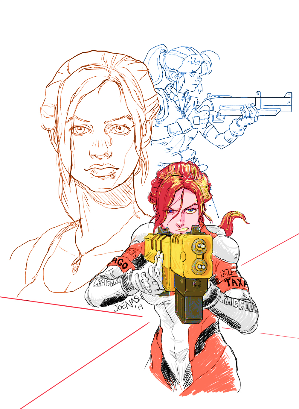 Claire Redfield sketches