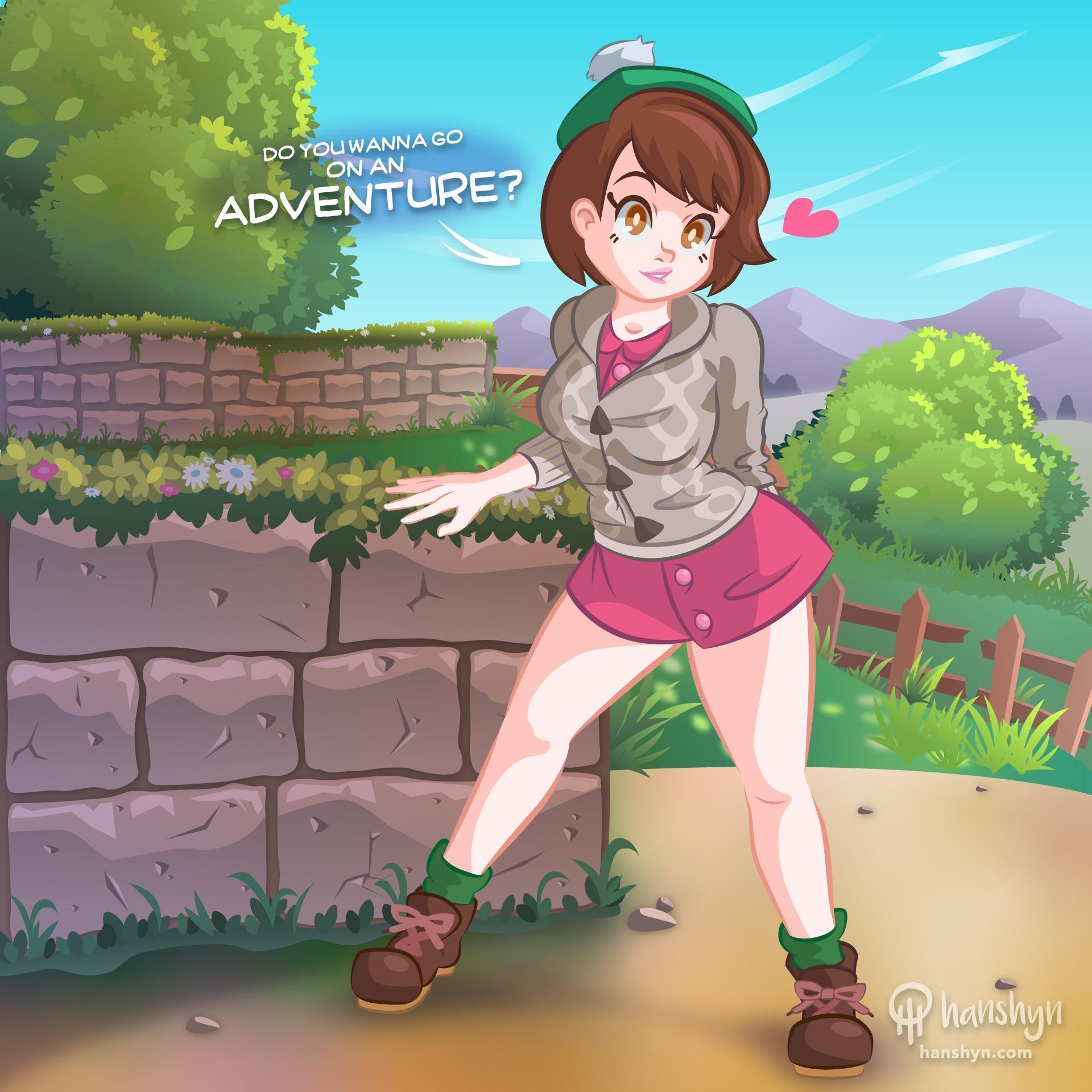 Female Hero Pokemon Sword And Shield By Hanshyn On Newgrounds
