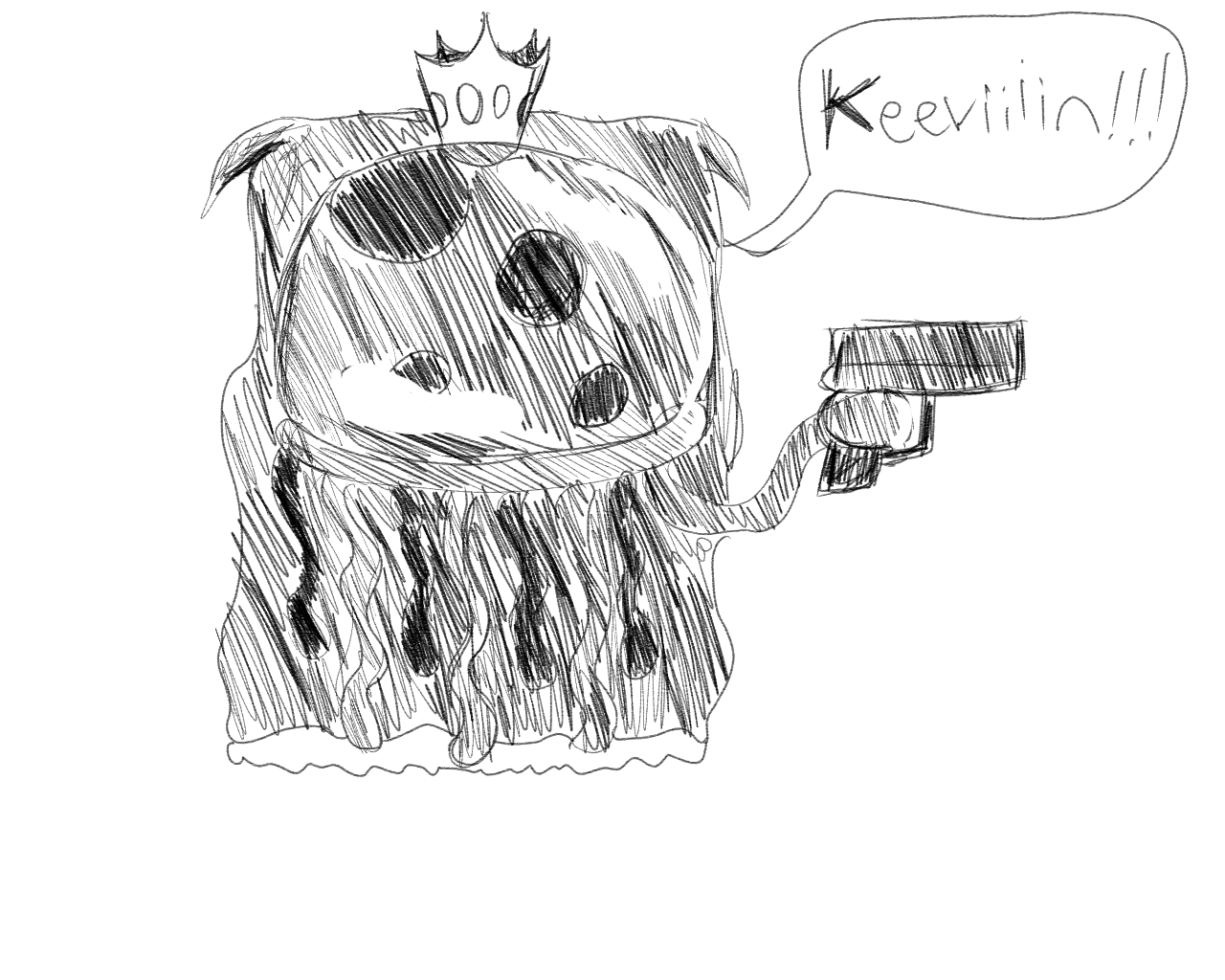 King Jellyfish with a gun