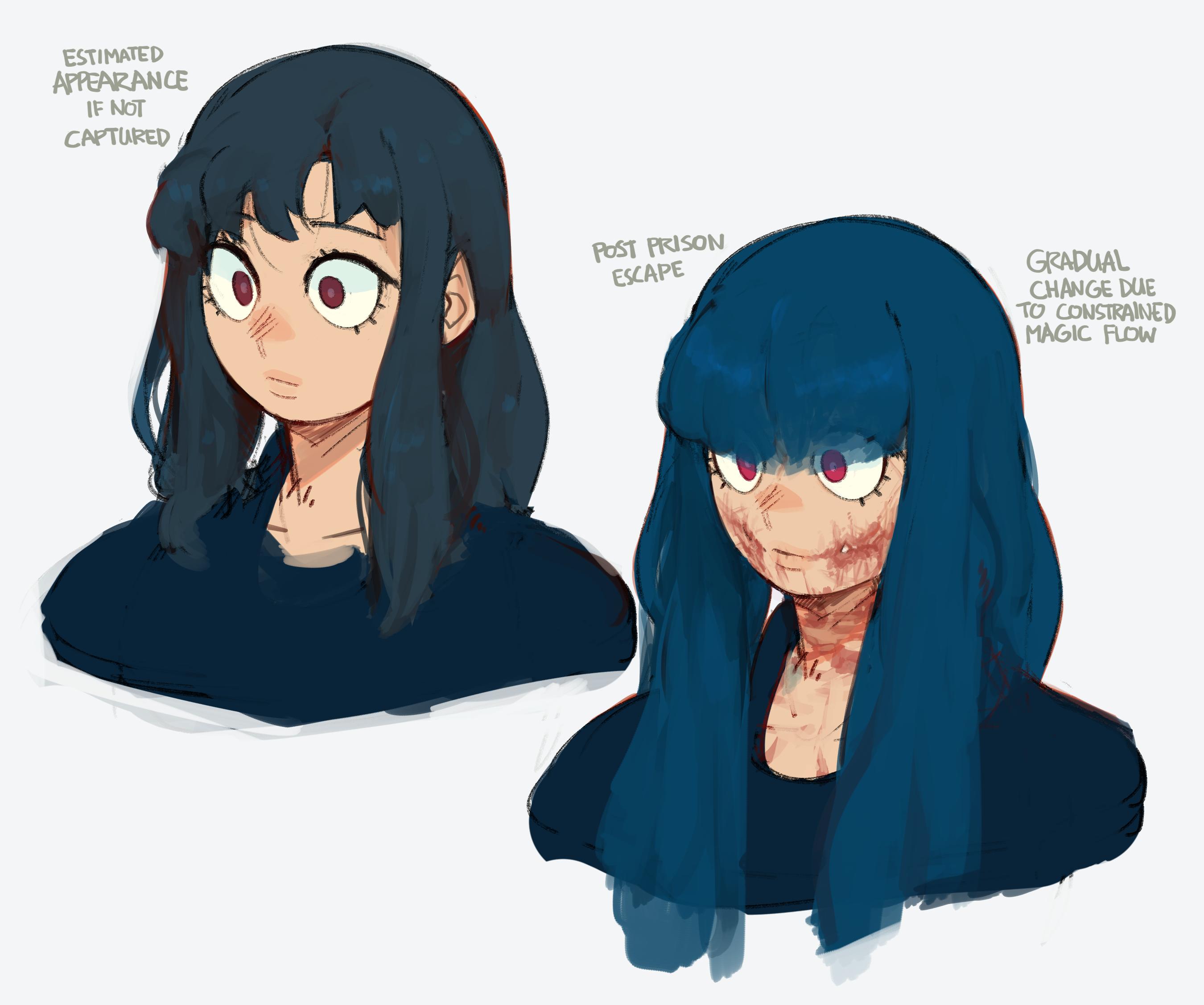 WOB doodles: Carmen's face