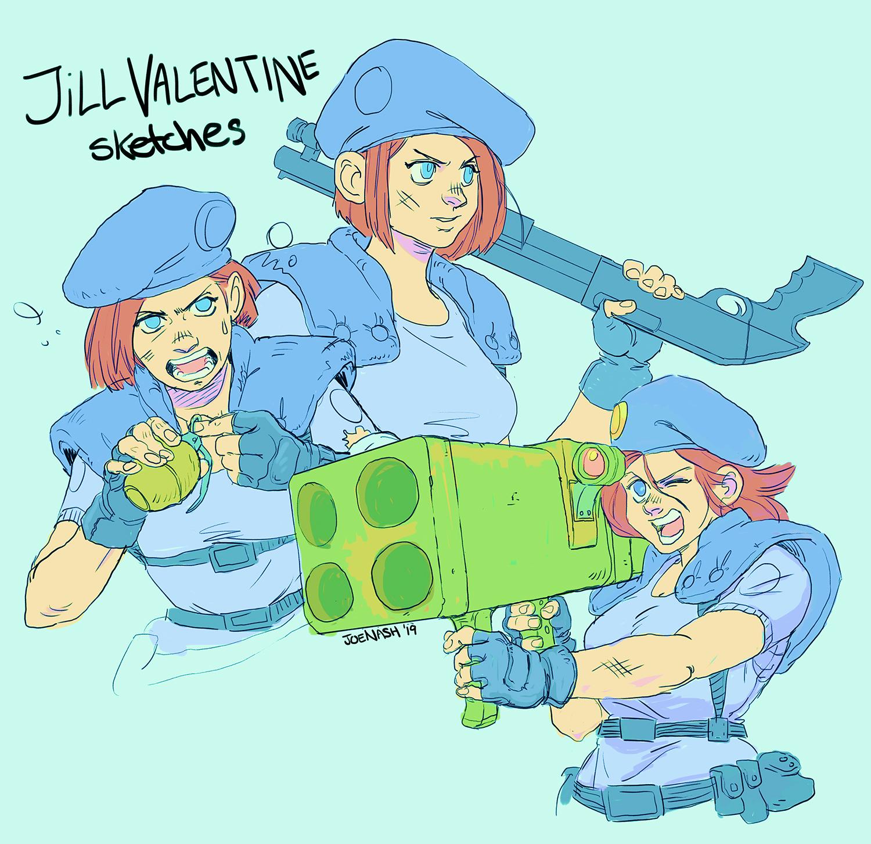 Jill Valentine sketches