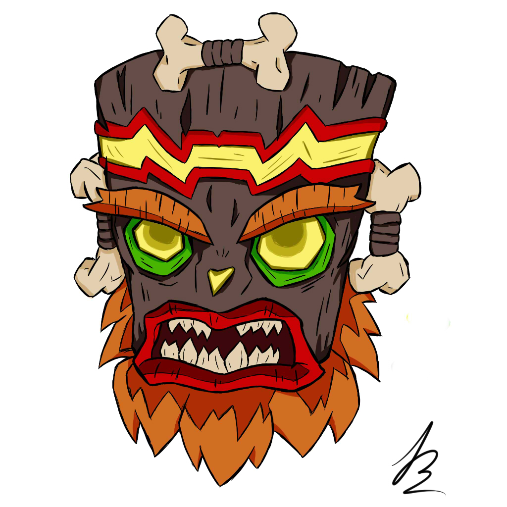 uka uka of crash bandicoot by JosuEdu