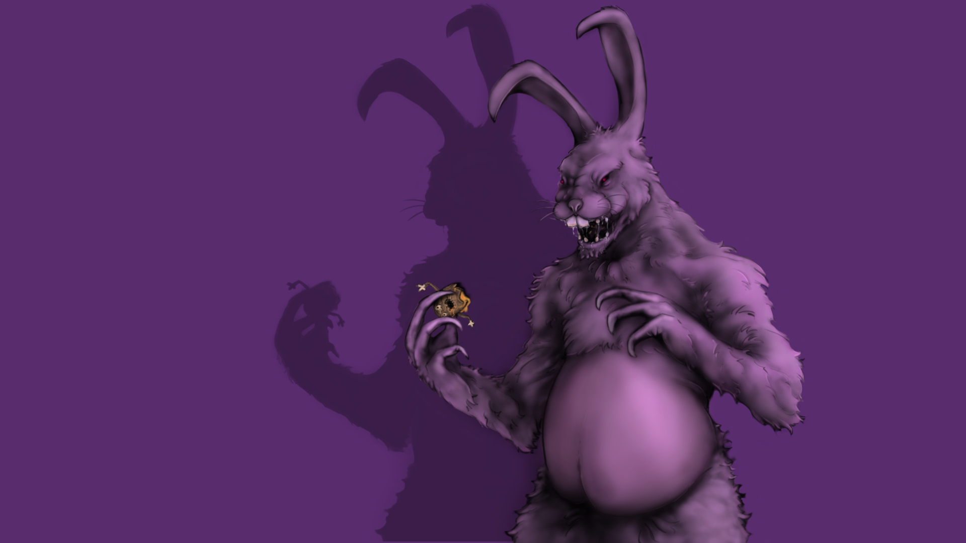 the easter bunny gets hungry