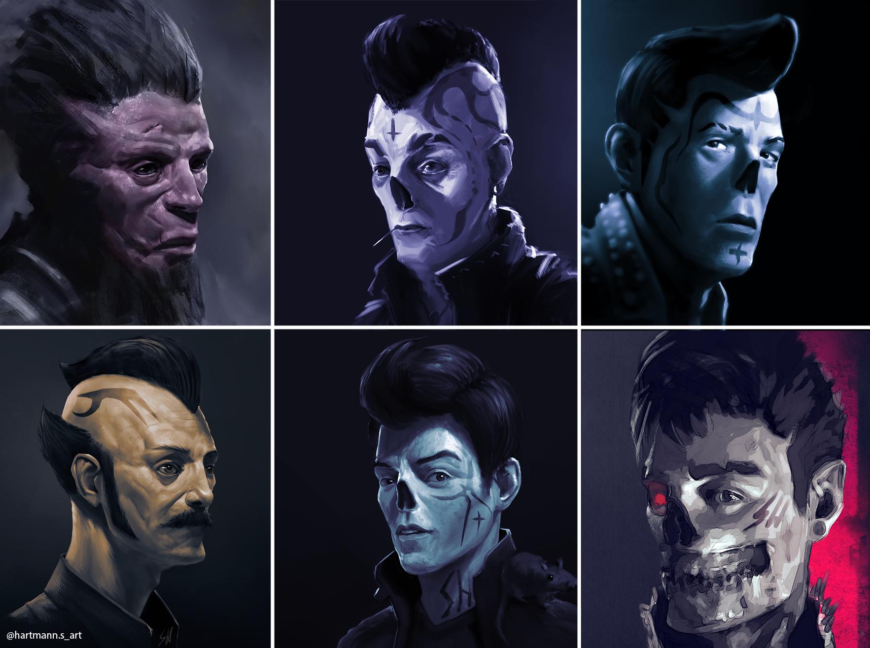 Few of my latest portrait paintings