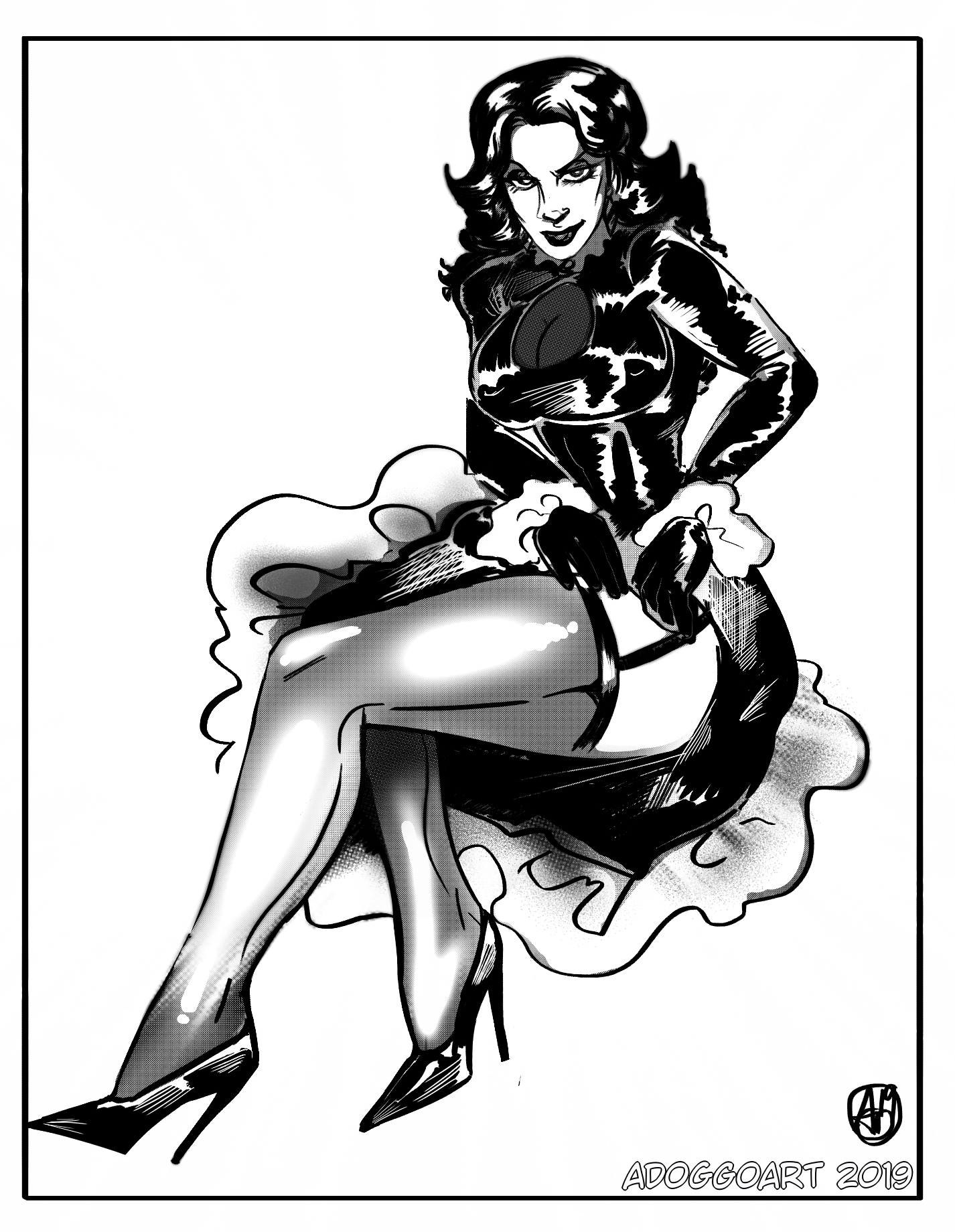Nina Pinup (Commission for Chaz)