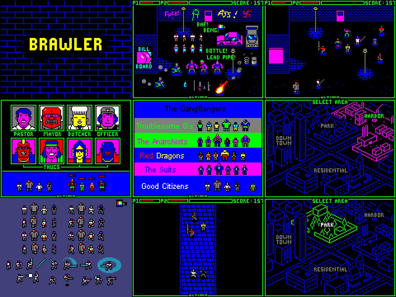 Brawler game mock-up
