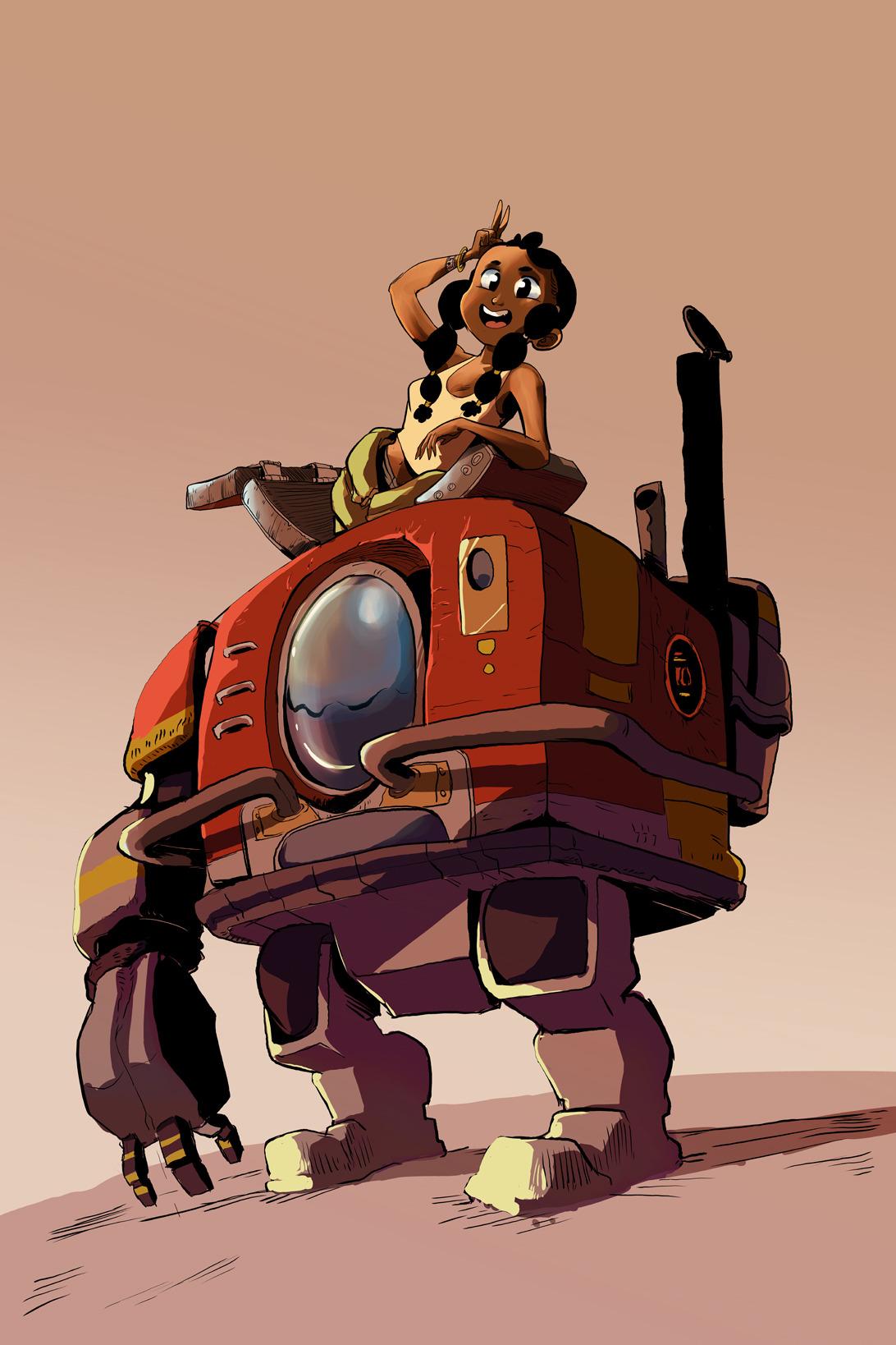 Bertie, and her robot