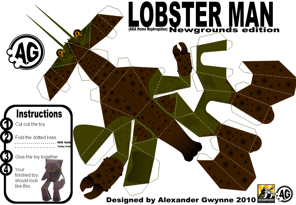 Lobsterman, NG papertoy