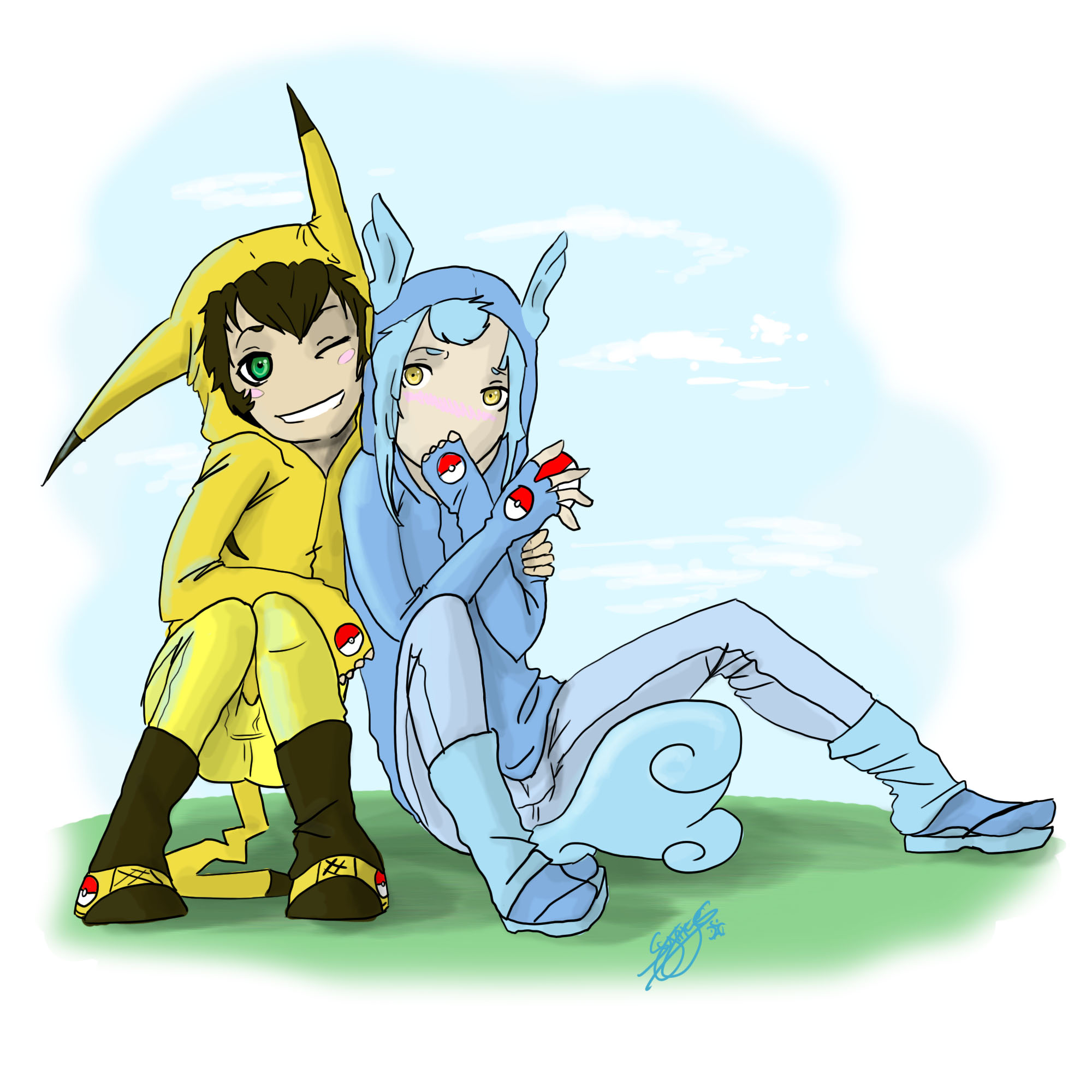 Pikachu and Wartortle