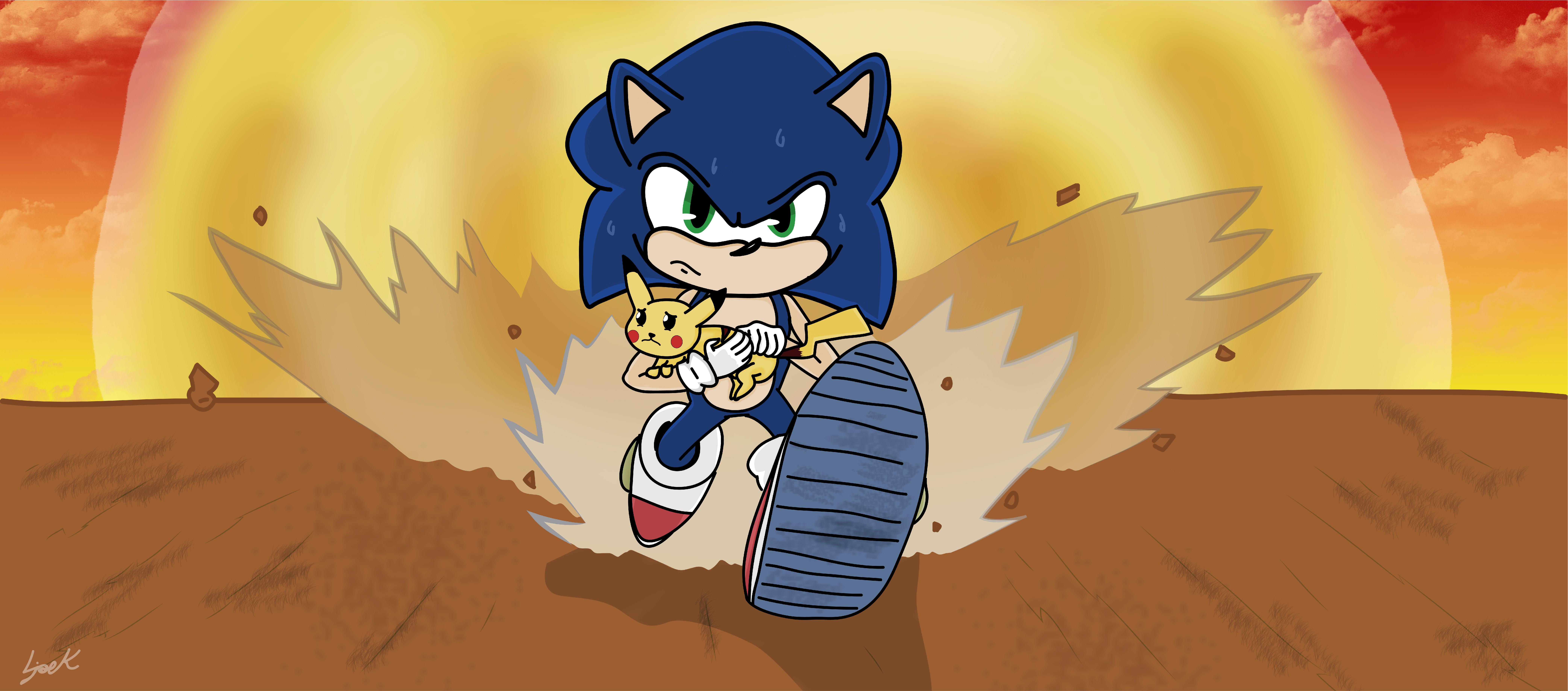 Super Smash Bros Ultimate Sonic Pikachu By Soniek99 On