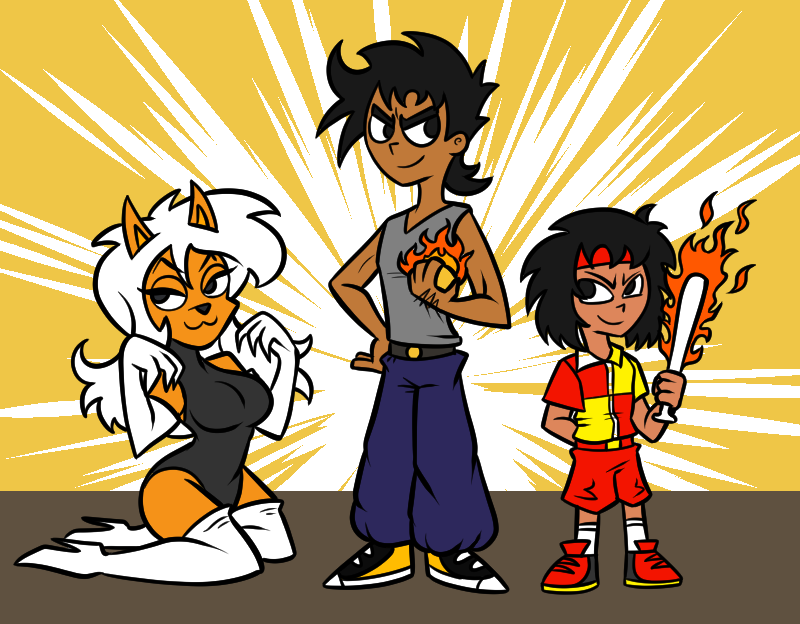 The Fire Masters Trio by RBComics on Newgrounds