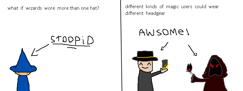 what if wizards had better hats?