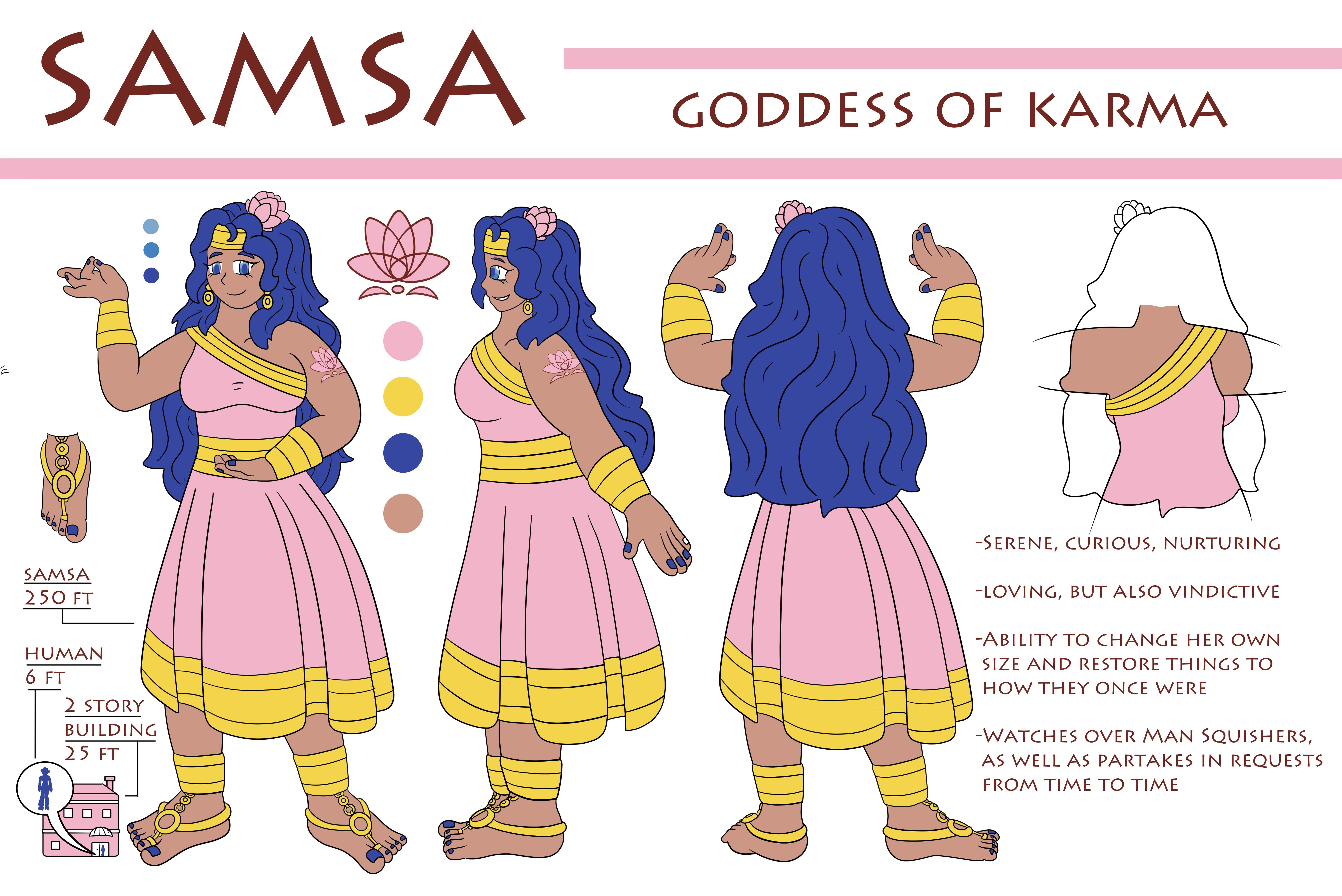 Reference Sheet - Samsa Goddess of Karma