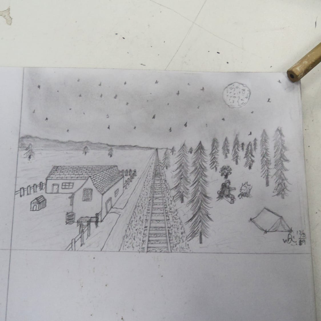 My first attempt at drawing perspective