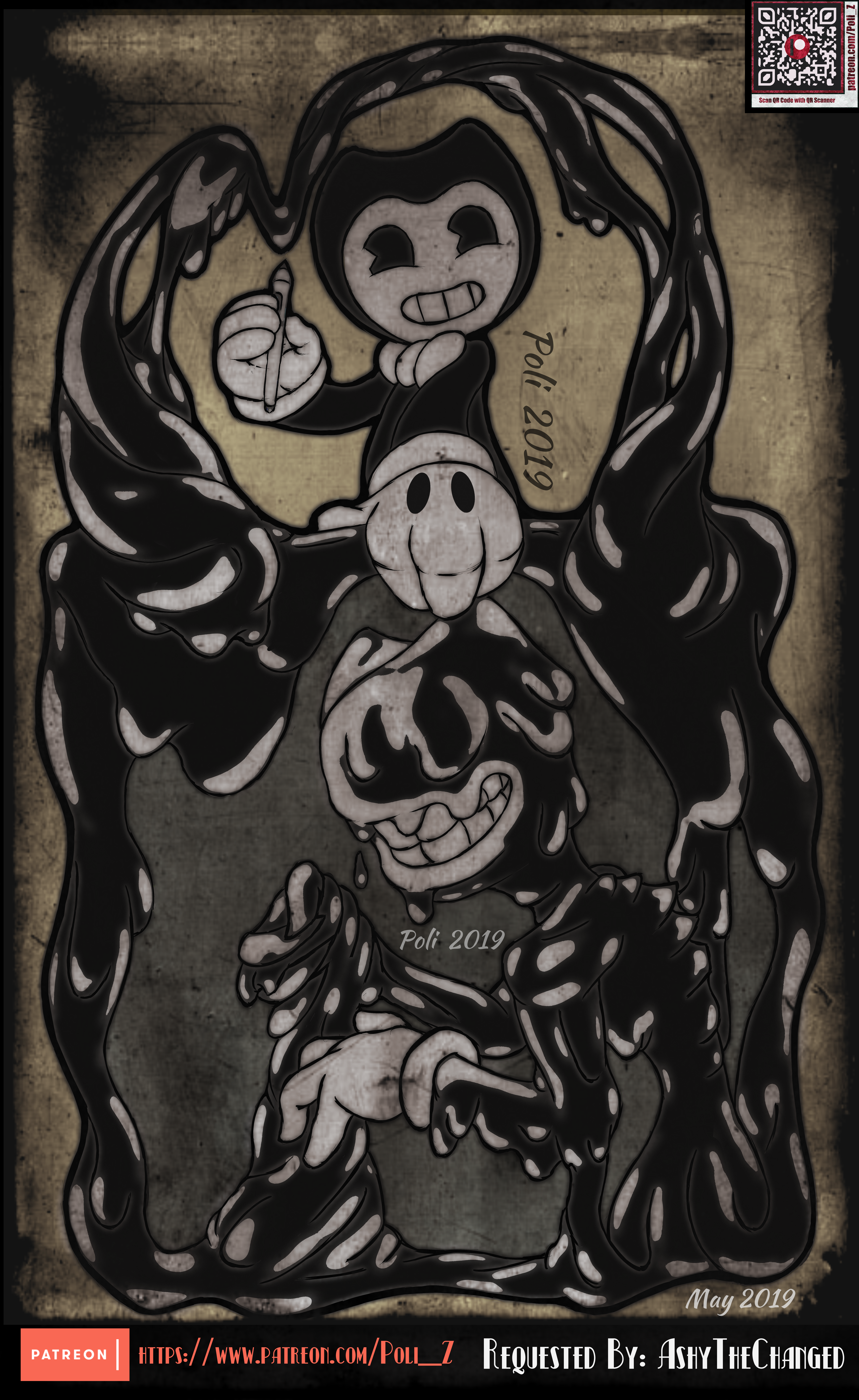Patreon Artwork: Bendy The Ink Demon