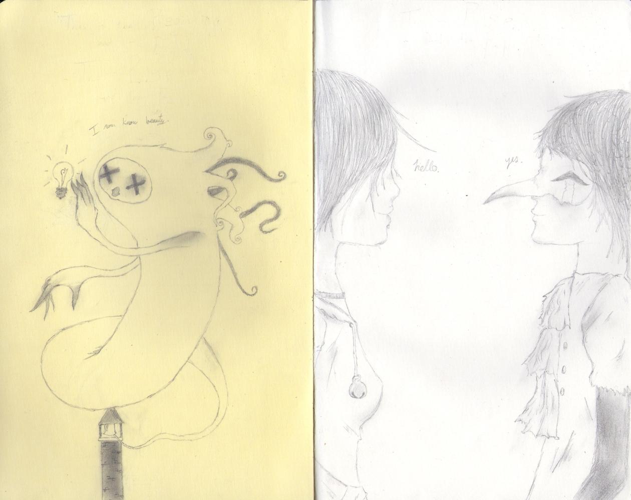 First Moleskine Drawings