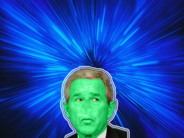 Bush from outer space