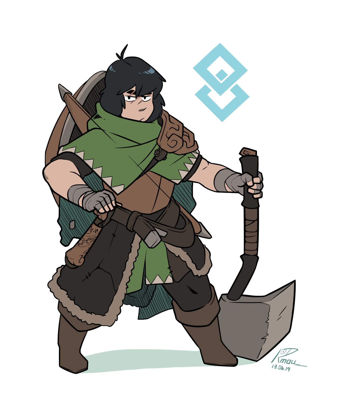 dwarven tribe warrior