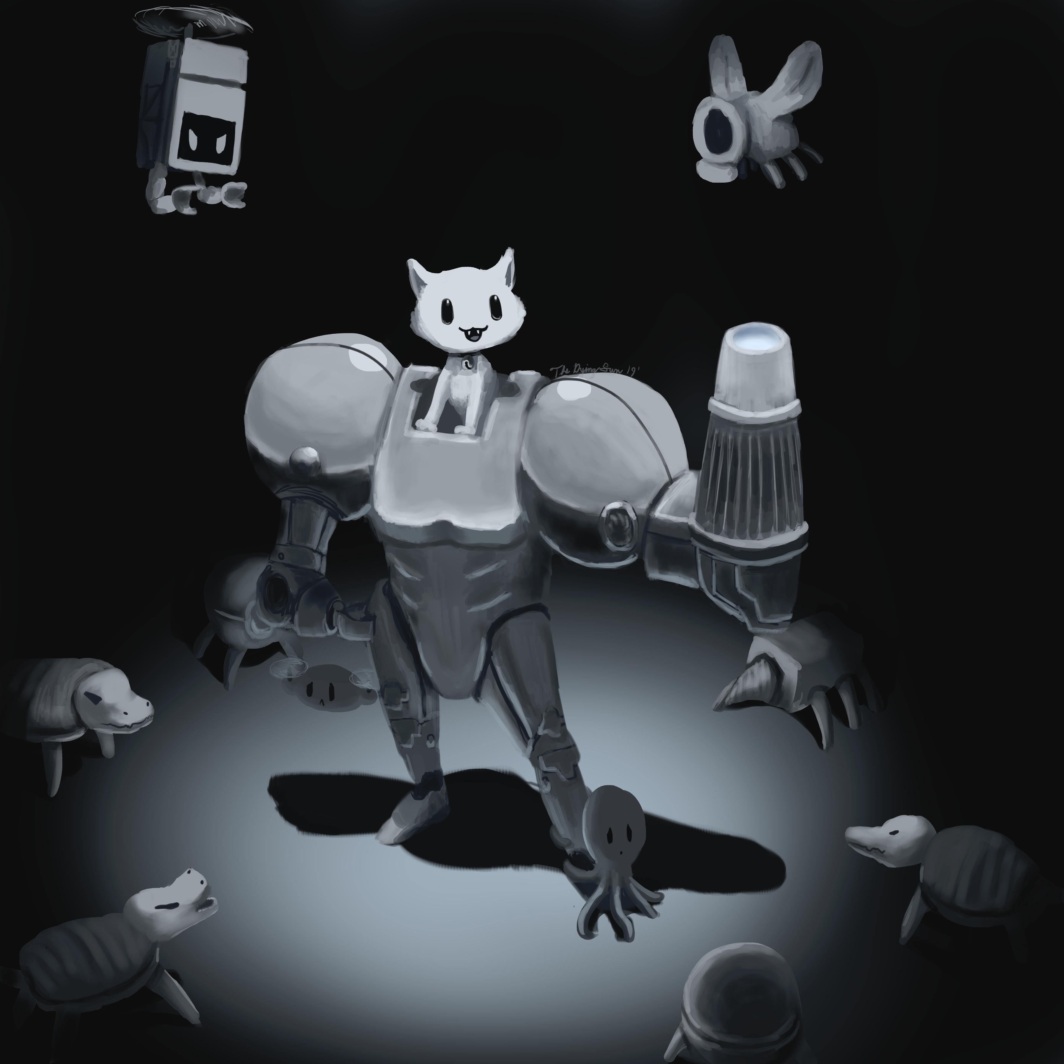 Button Pusher | Gato Roboto