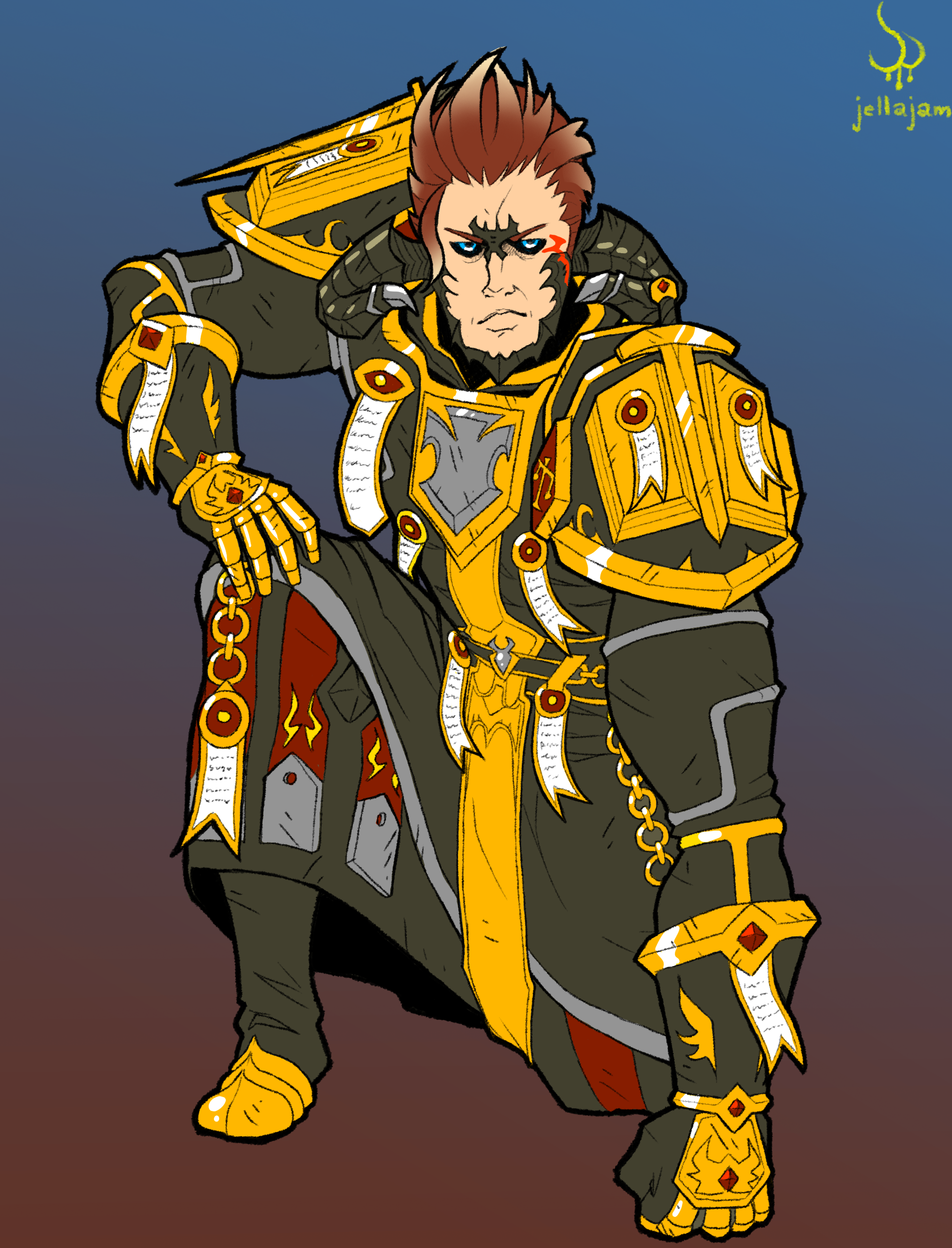 FFXIV x WoW Au Ra Judgement Armor Redwind by Jellajam on Newgrounds