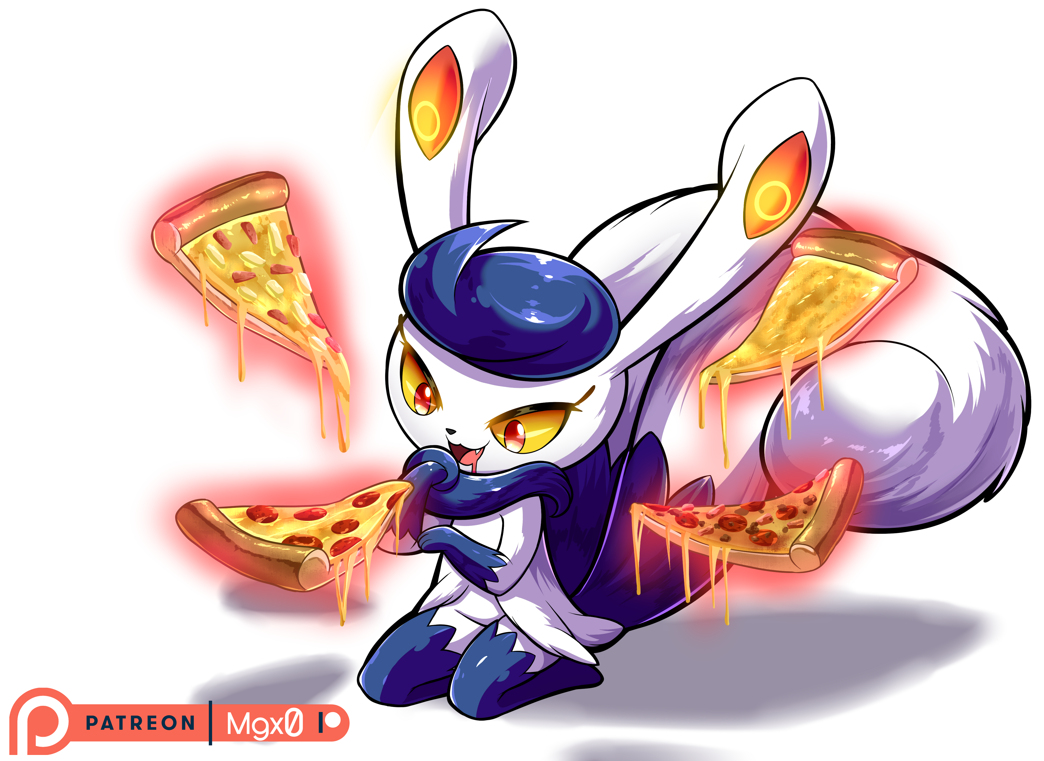 Patreon Reward: Meowstic's Pizza Time