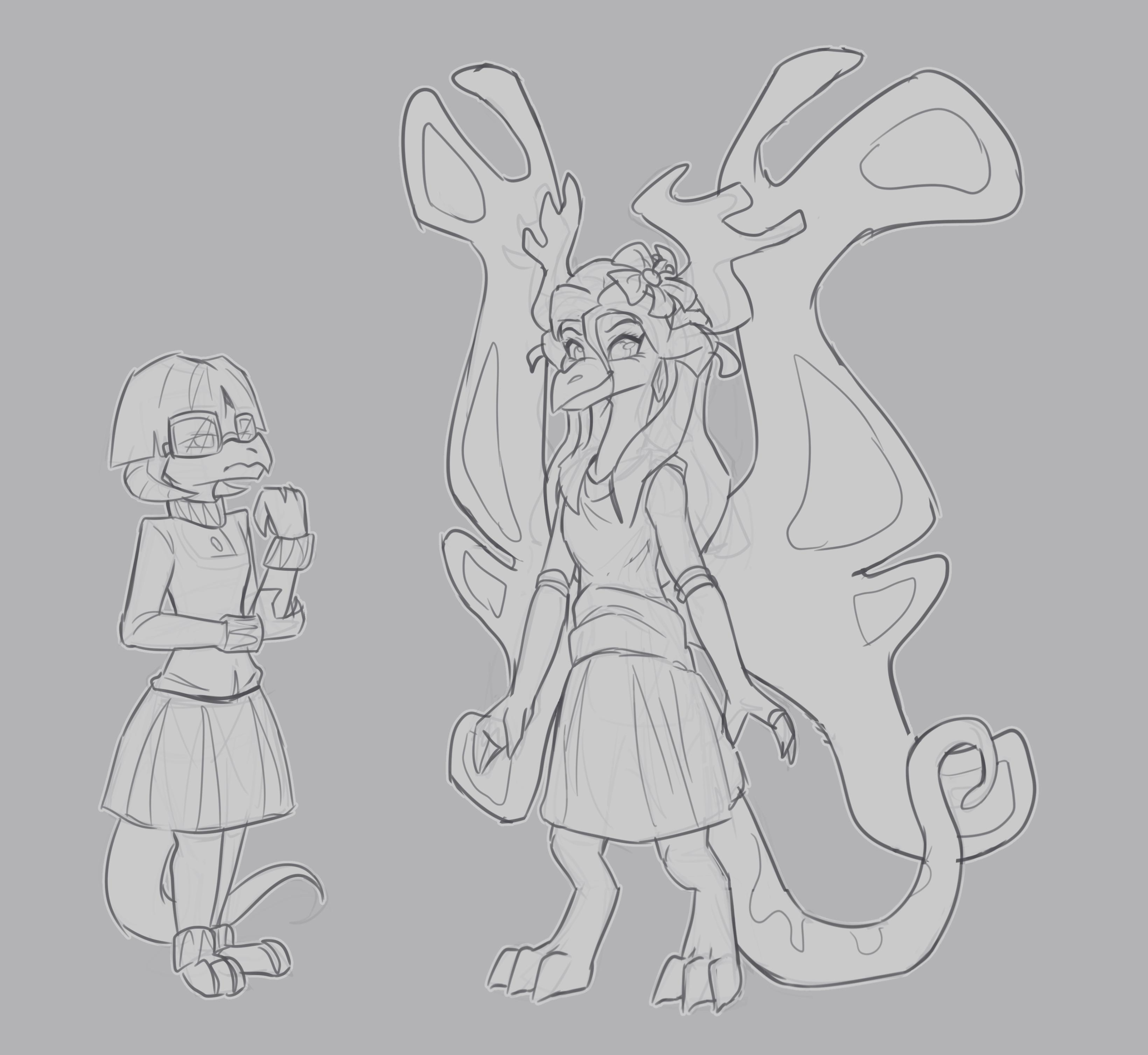 Dragon character sketches