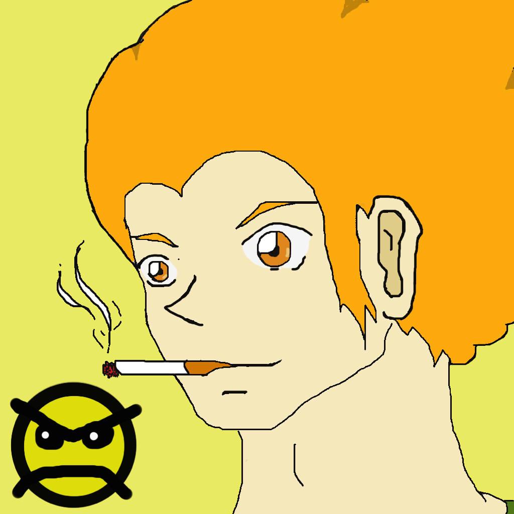 pico's smoking face