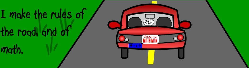 Math Bumper Sticker 1: Road