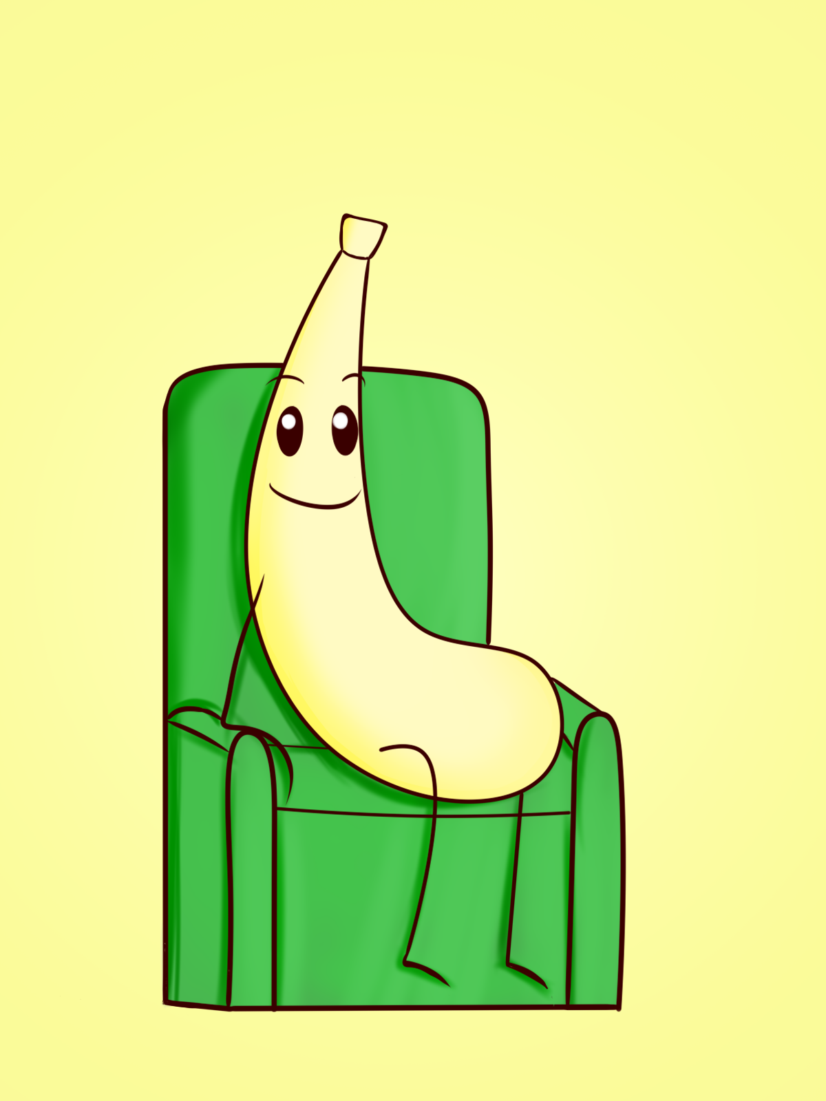 Chilling on a chair
