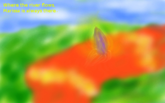 orange water fall
