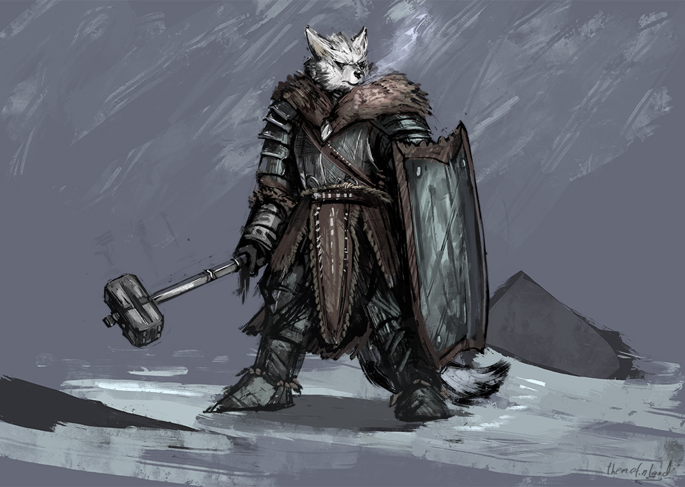 Wolven cleric of the grave [patreon]