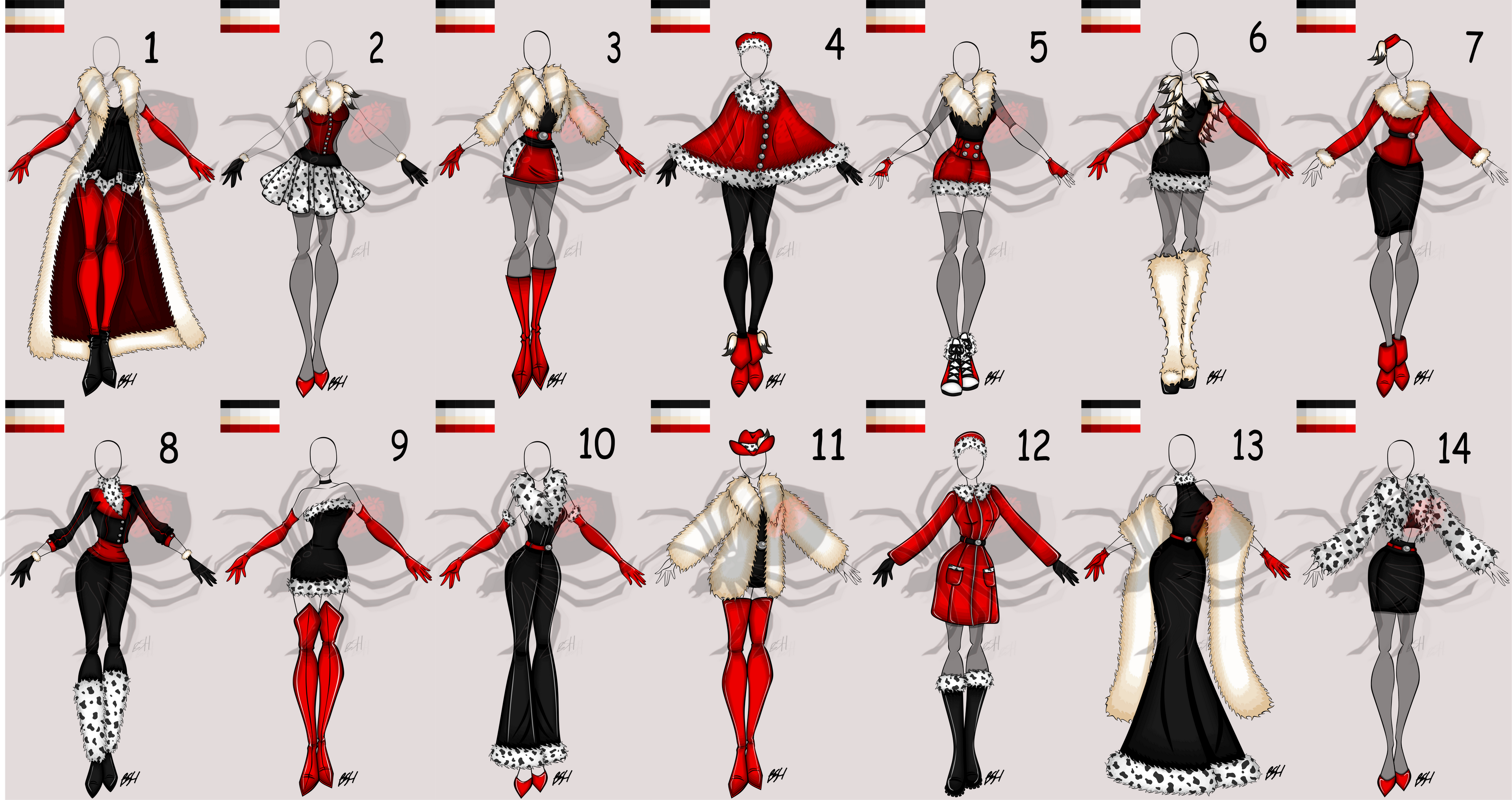 All 14 Outfits Together!