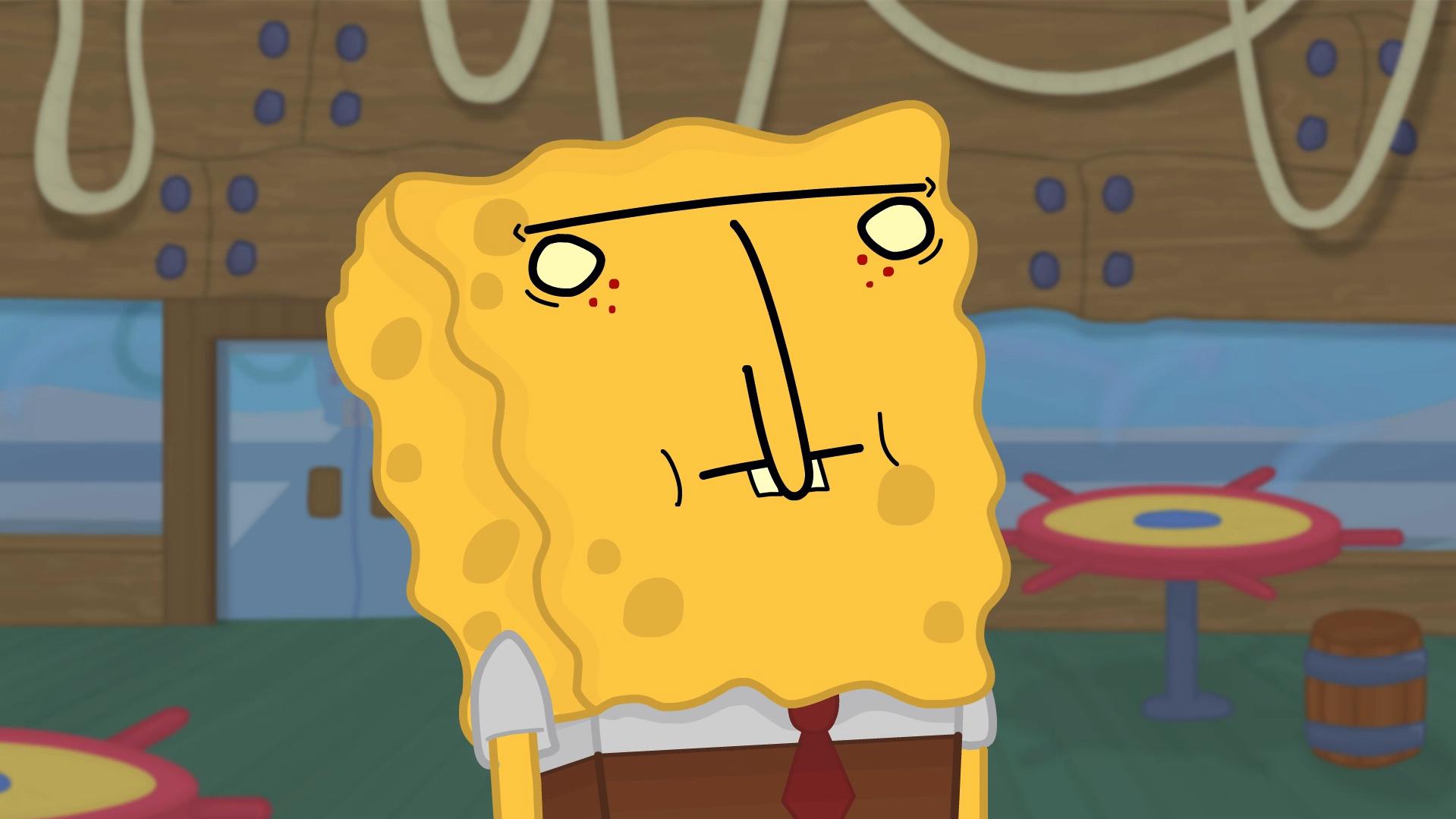 So, I drew SpongeBob