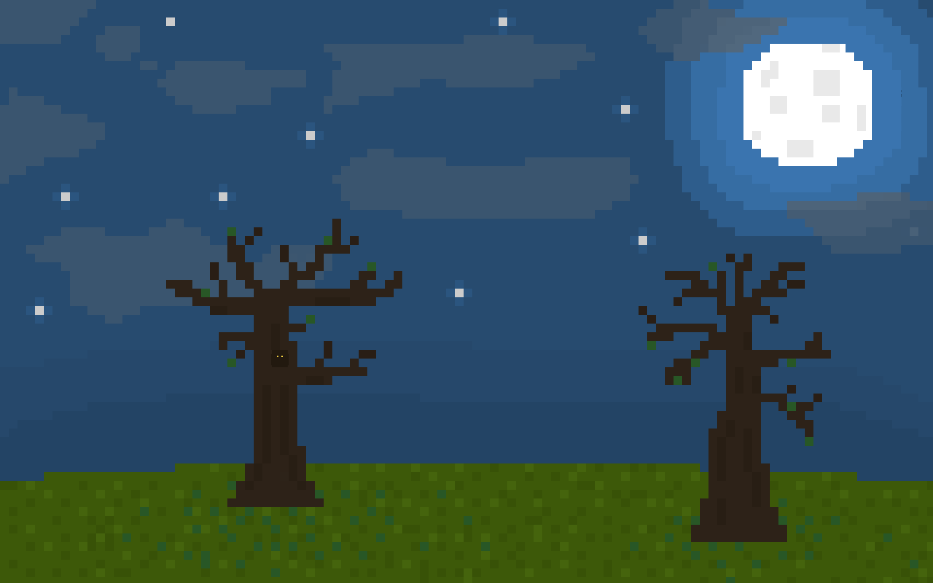 Night Field Pixel Art