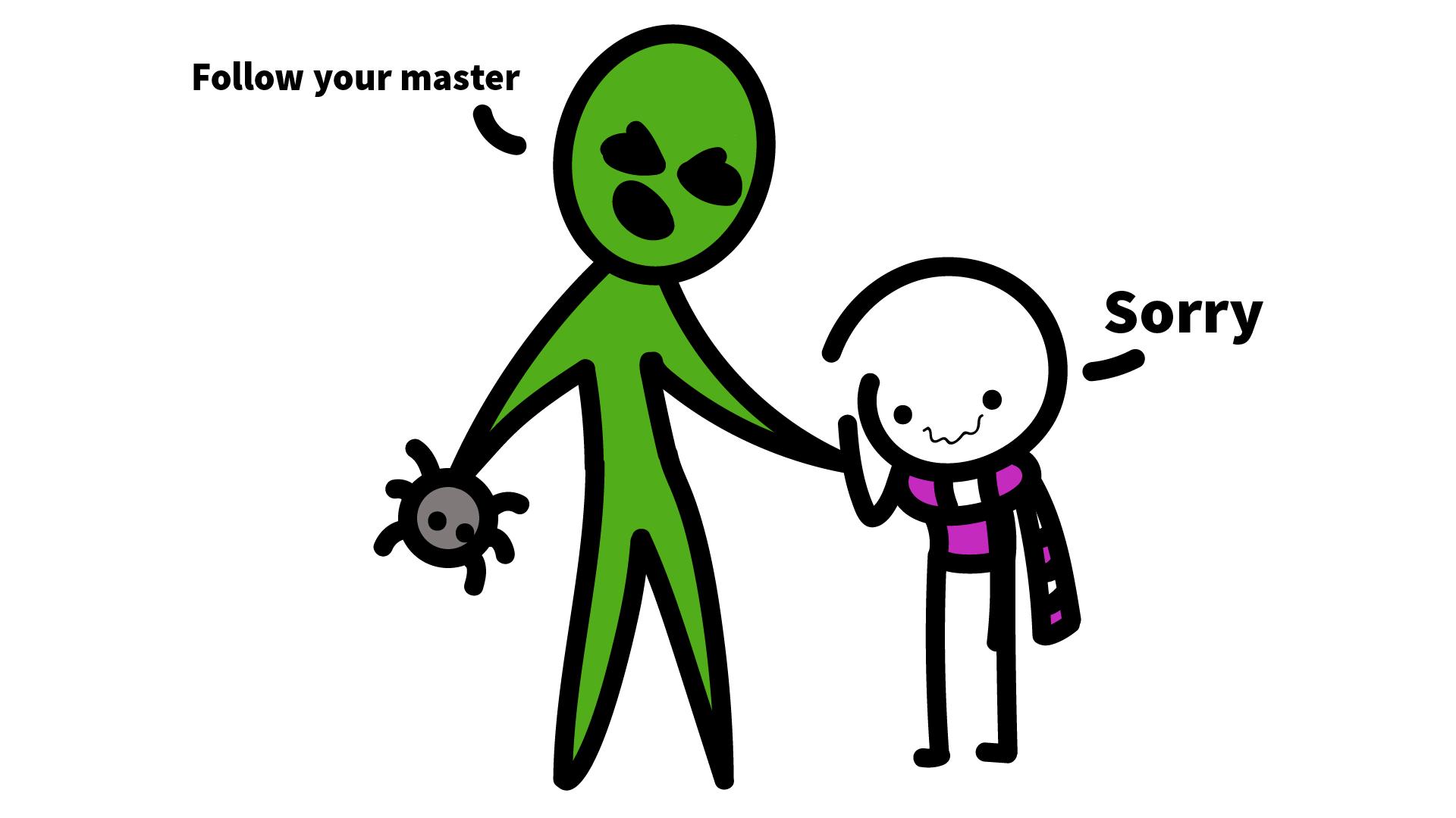 I need to follow master