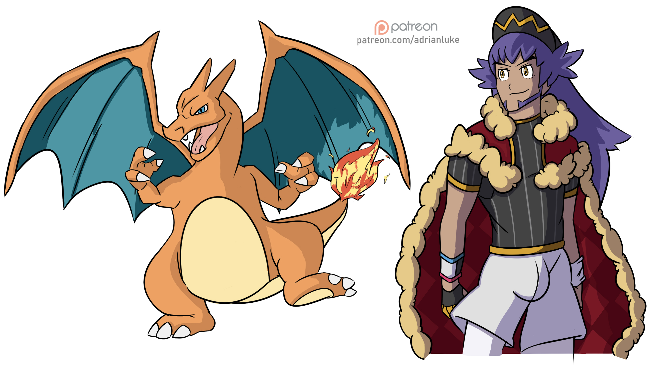 Leon and Charizard