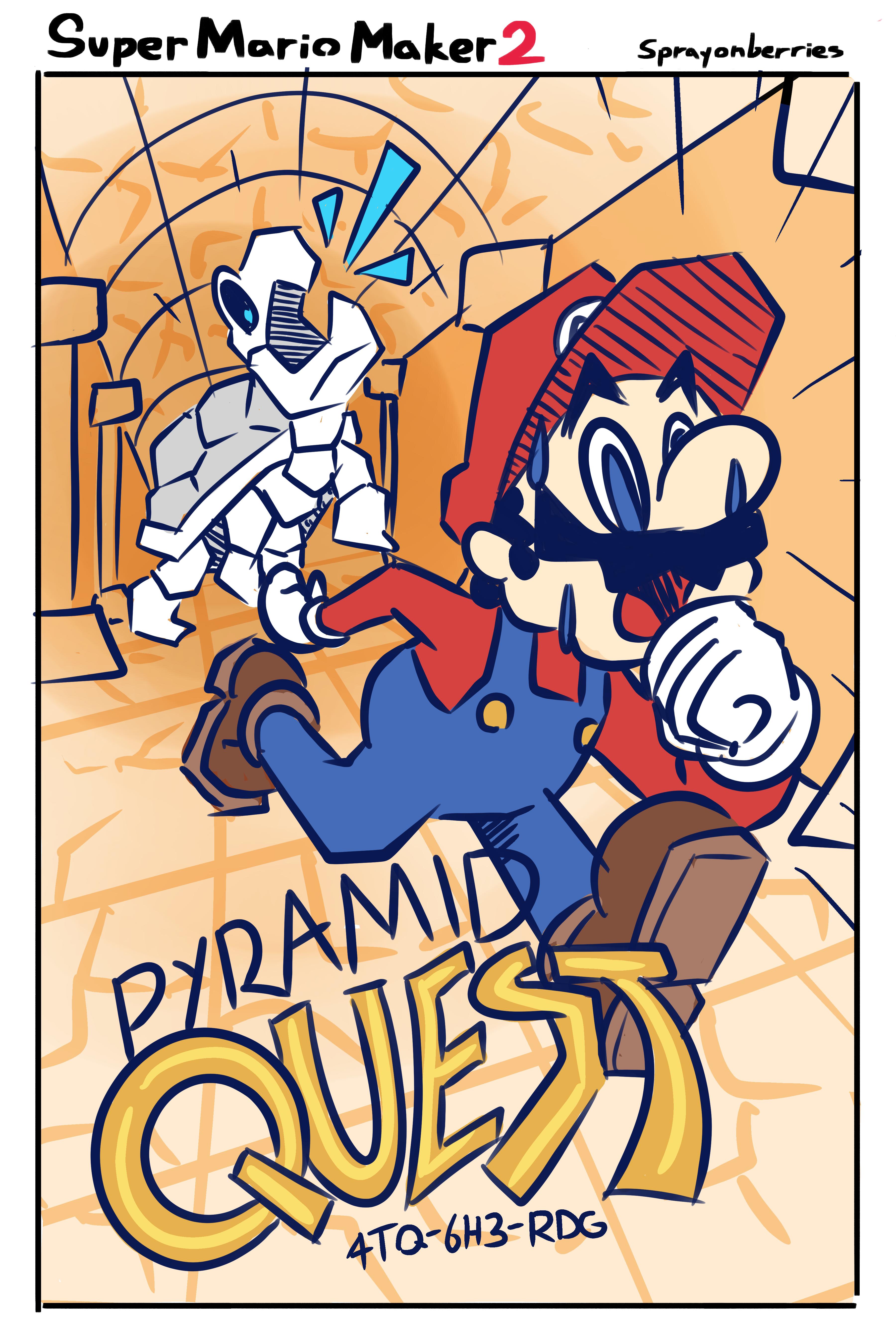 Pyramid Quest: A Mario Maker Level