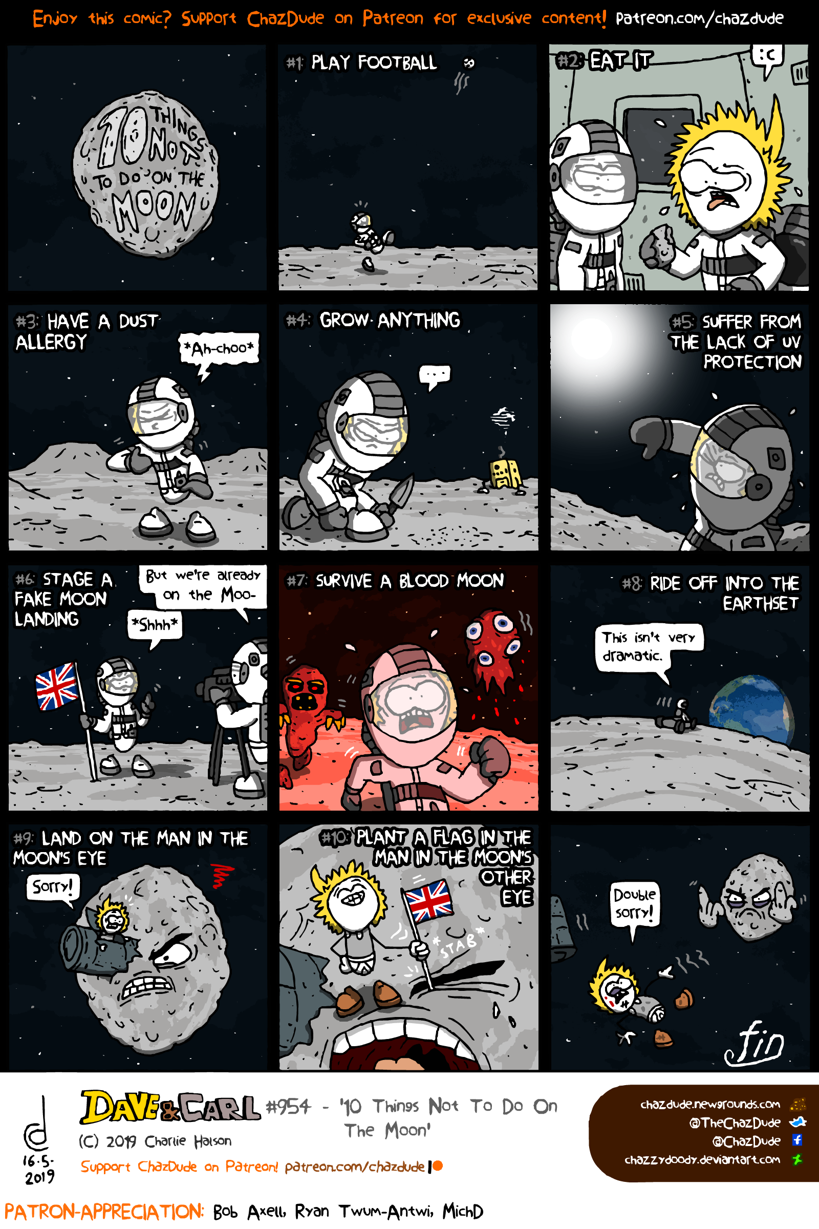 10 Things Not To Do On The Moon