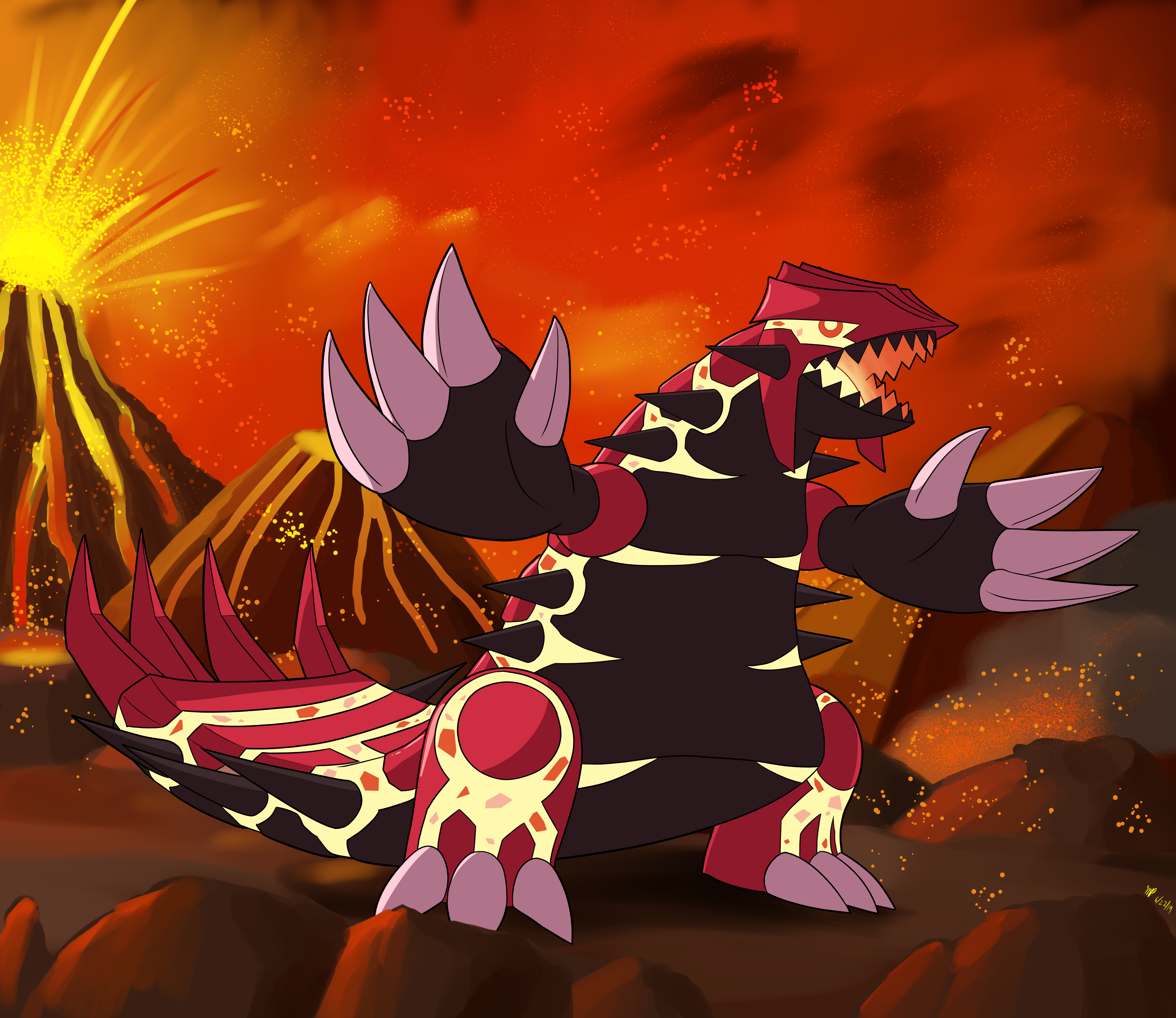 Primal Groudon By Cogmoses On Newgrounds