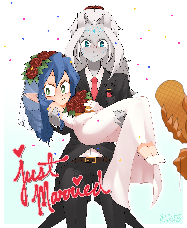 Kiora and Amelia - Just Married