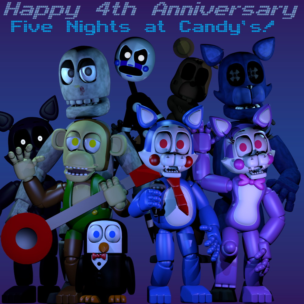 FNaC's 4th Anniversary by CGraves09 on Newgrounds