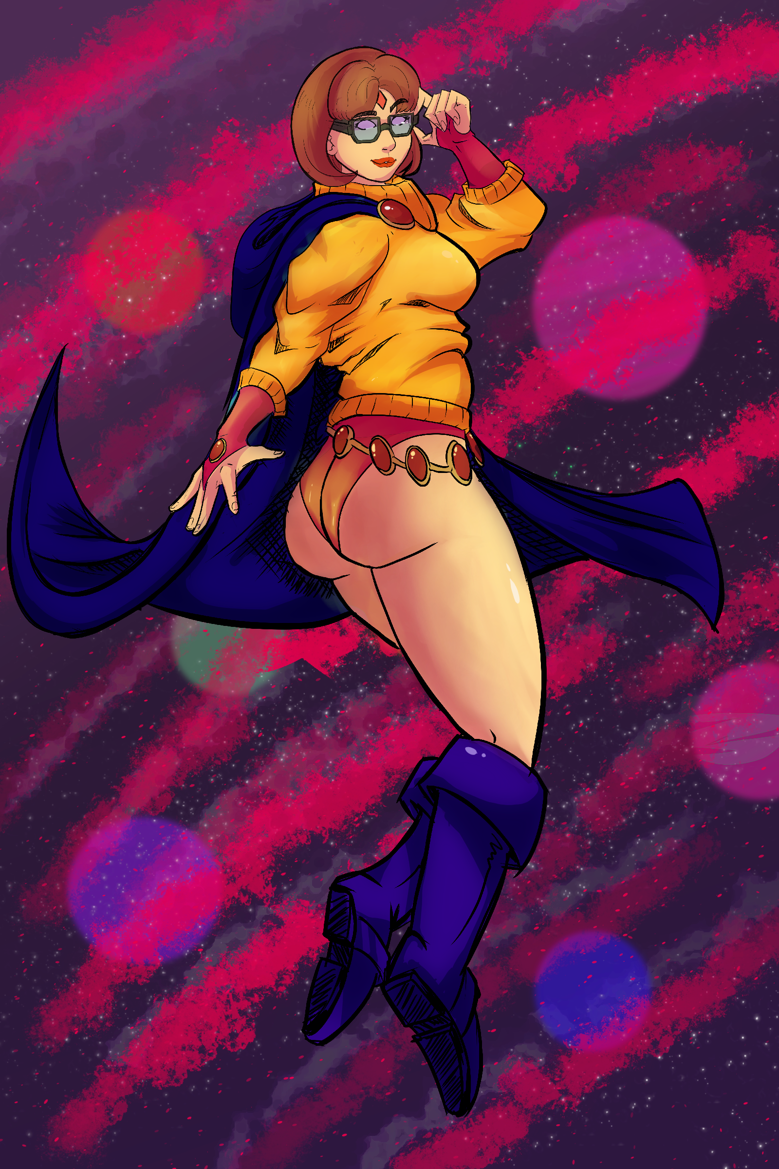 Velma in Raven outfit 4chan request