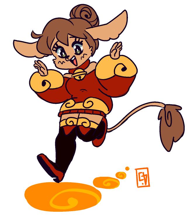 Hopping Over Golden Stones