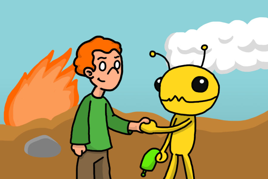 Pico rescued Alien hominid from area 51