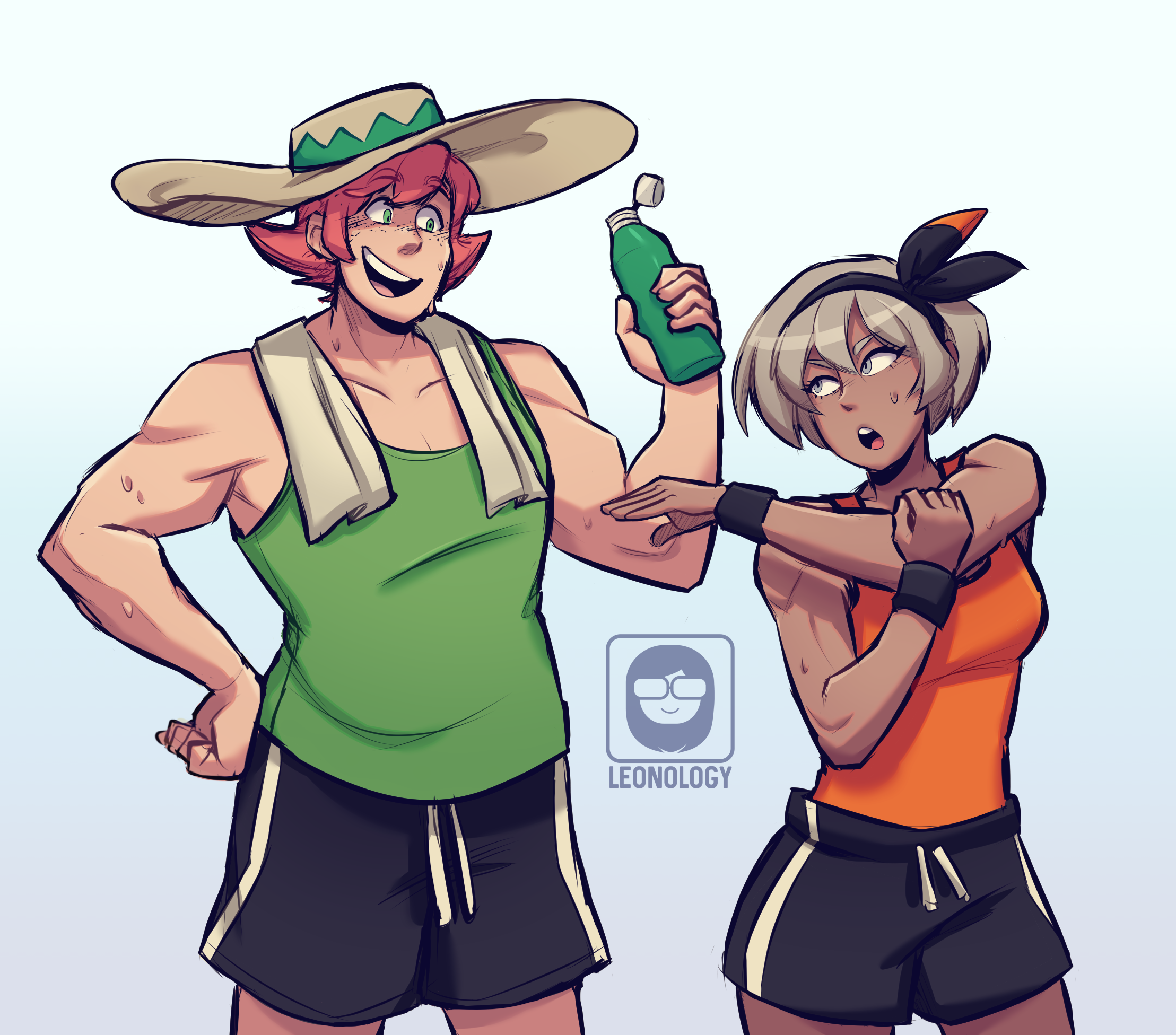 They probably work out together
