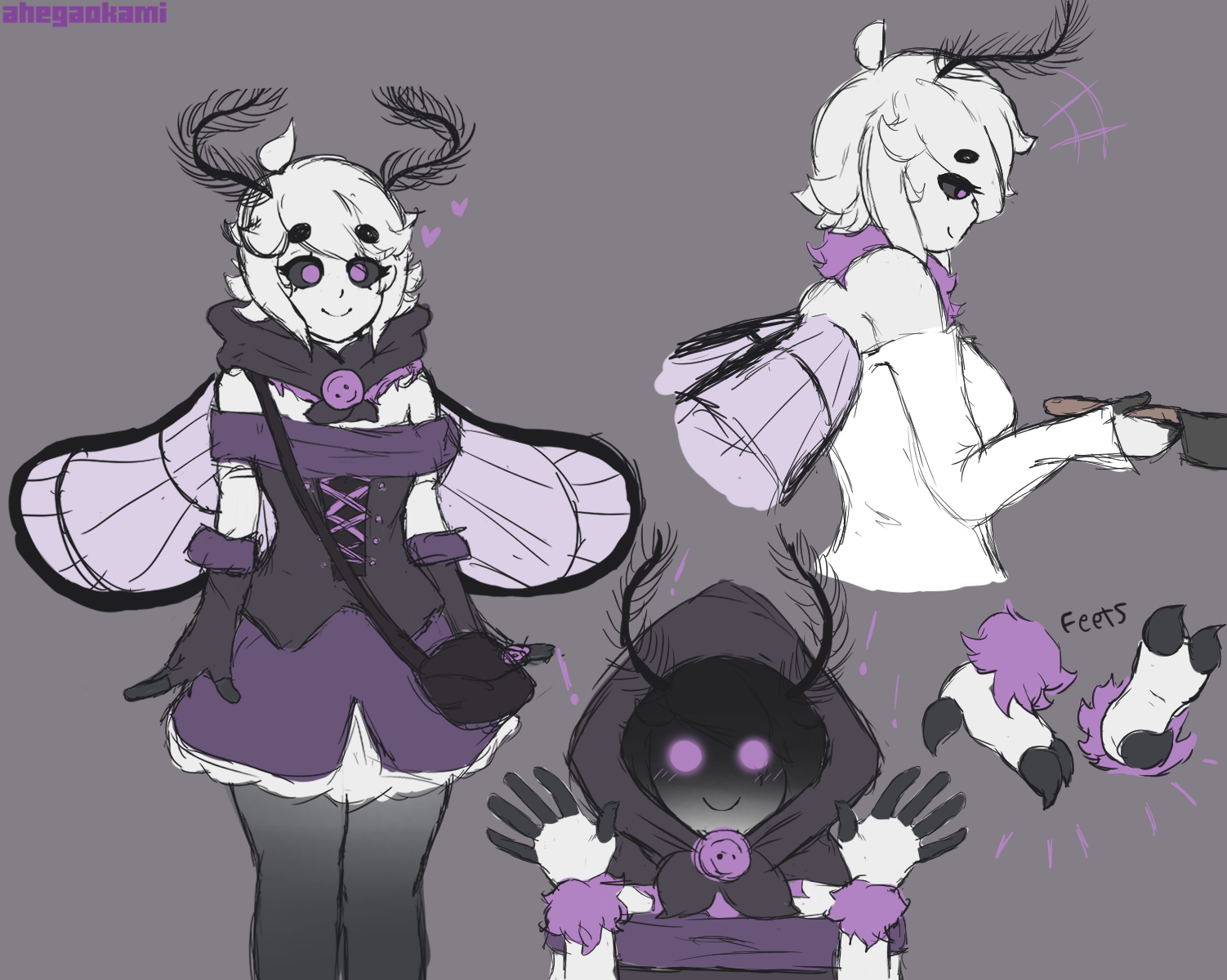 Lumin and Lavender Sketches