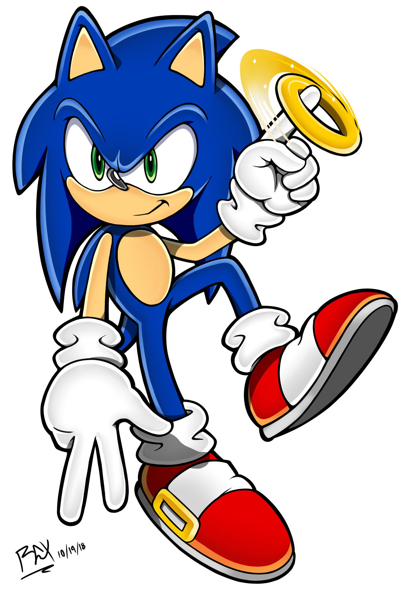 2018 - Sonic Channel - Sonic with Ring
