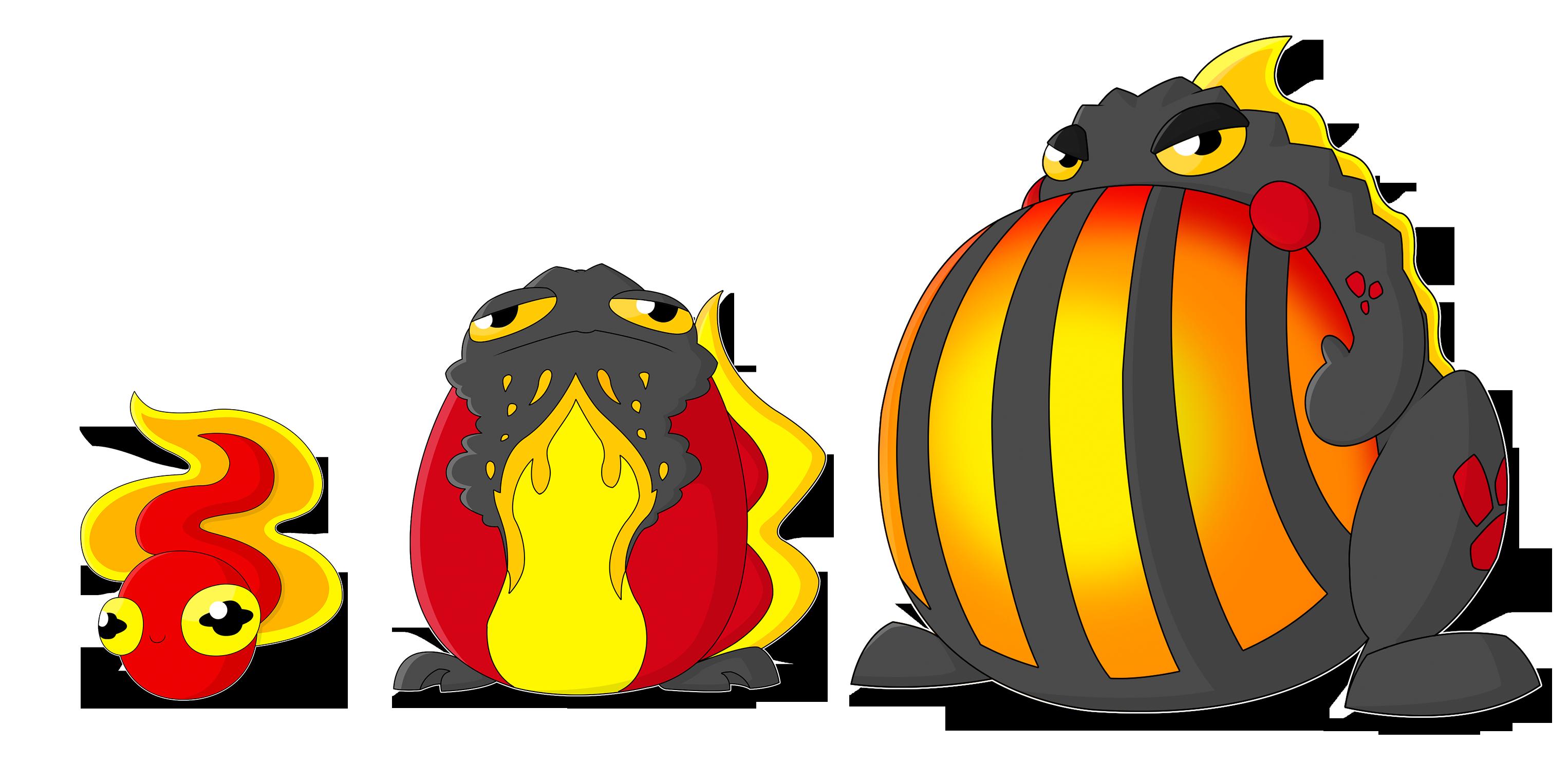 Lava Toad Fakemon Evolution Line by DeadBedSpread on Newgrounds