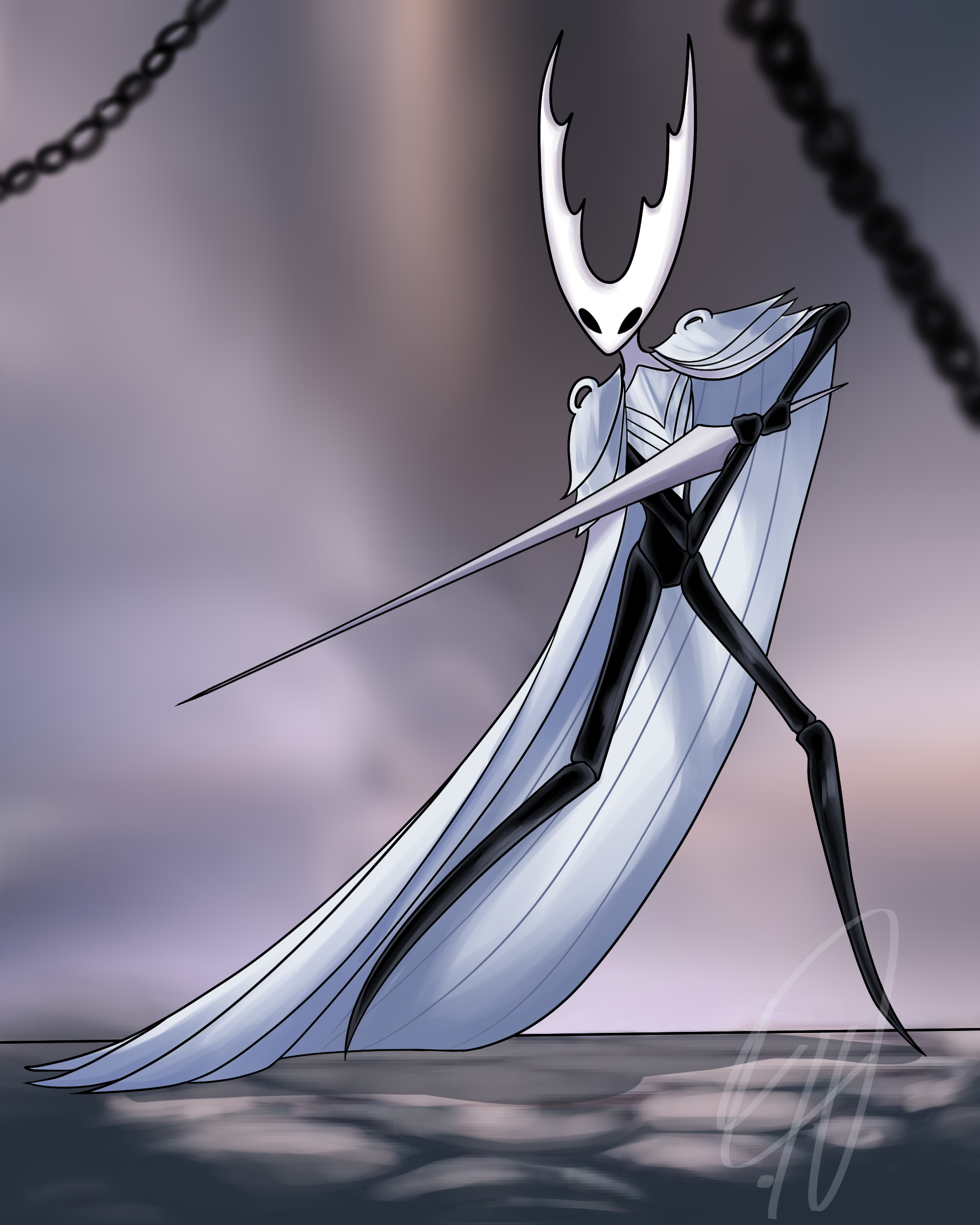 The Hollow Knight Pure Vessel by TatsuoDraws on Newgrounds