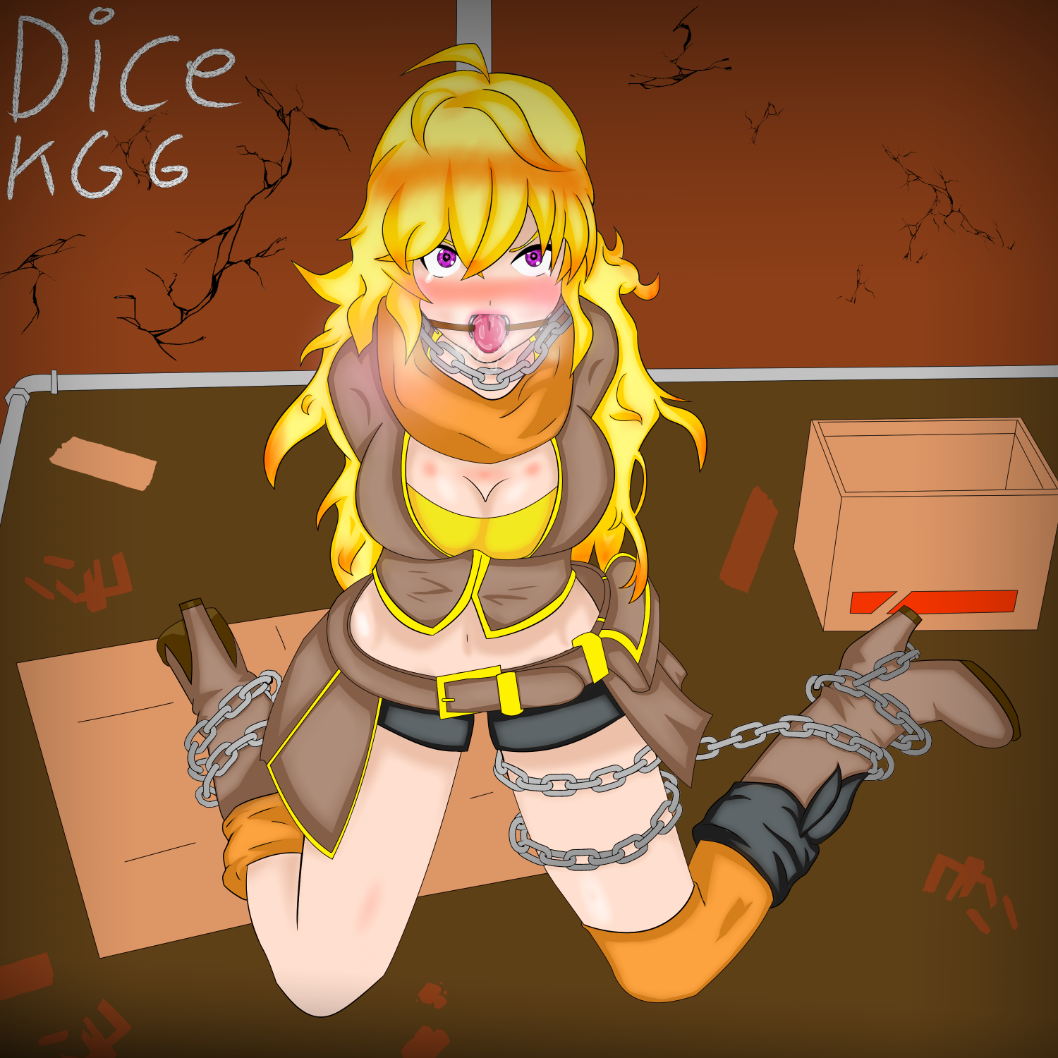 Gagged Animation yang ring gagged part 1dice-kgg on newgrounds